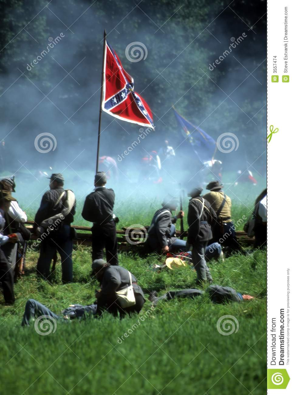 Confederates defend the flag