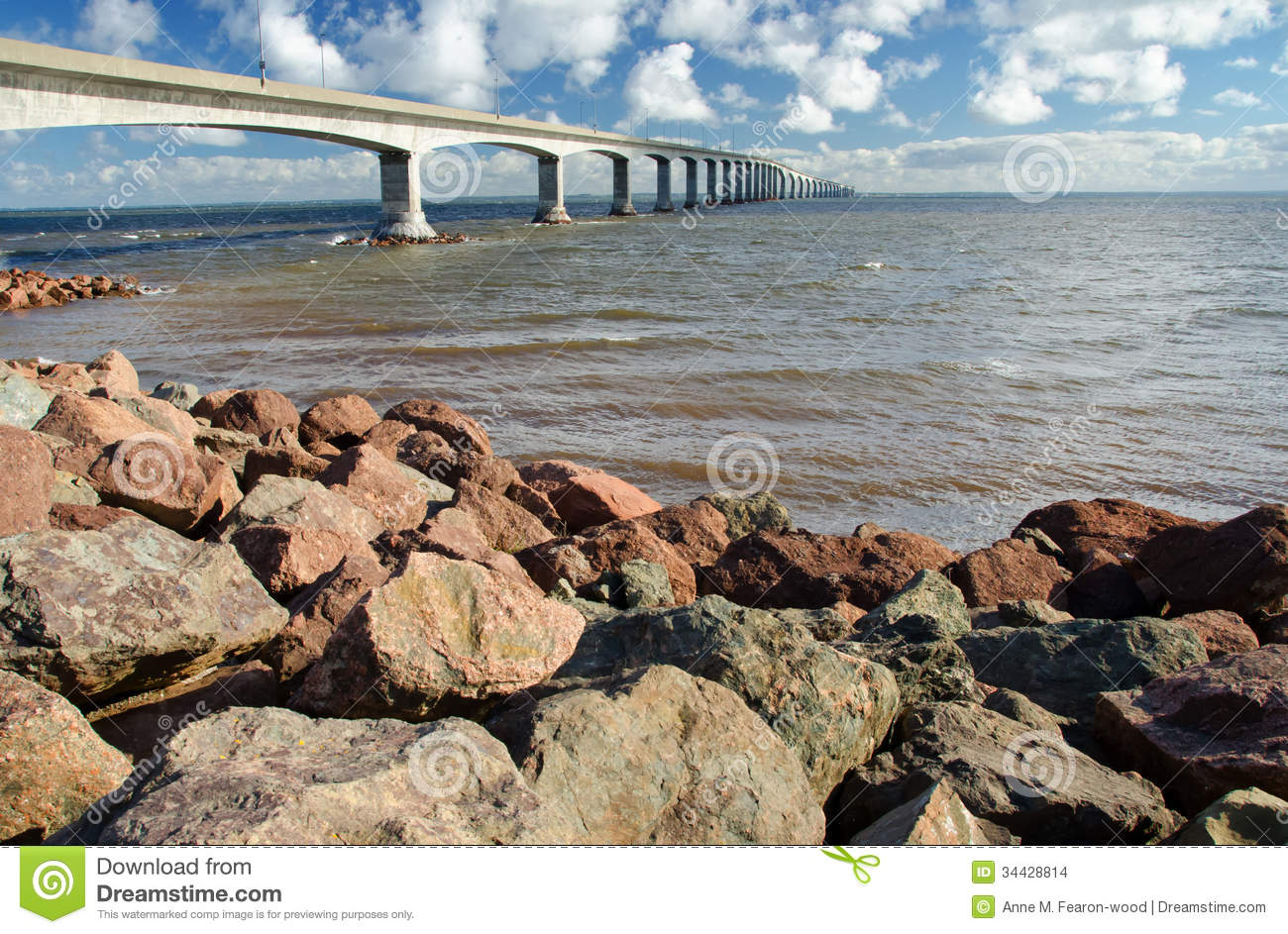 Confederation bridge connecting new brunswick to prince edward island