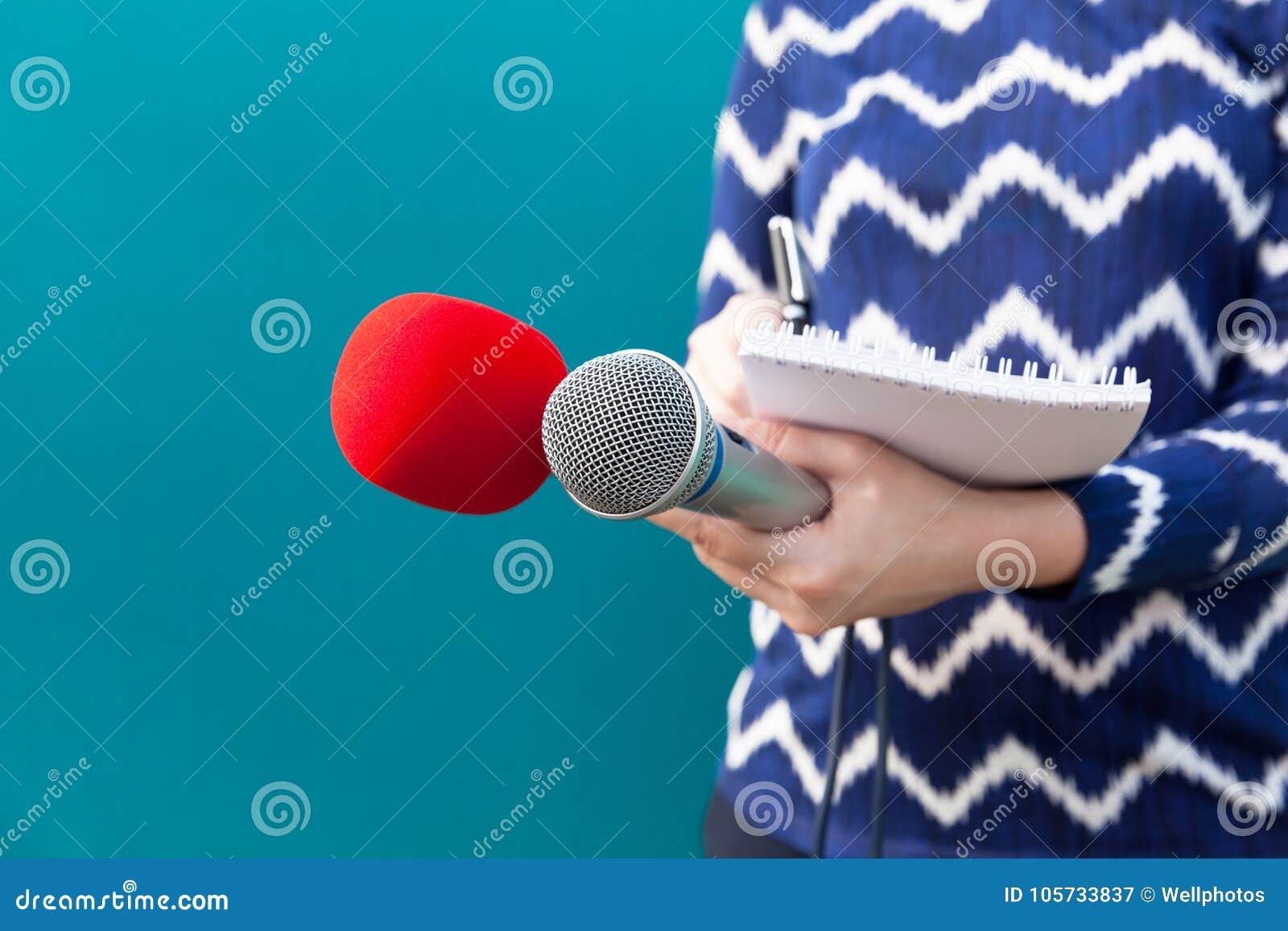 Conferência de Press do journalista journalism