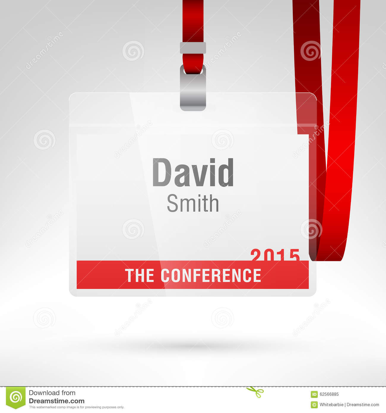 Conference Badge Stock Vector Illustration Of Template - Conference name badges template