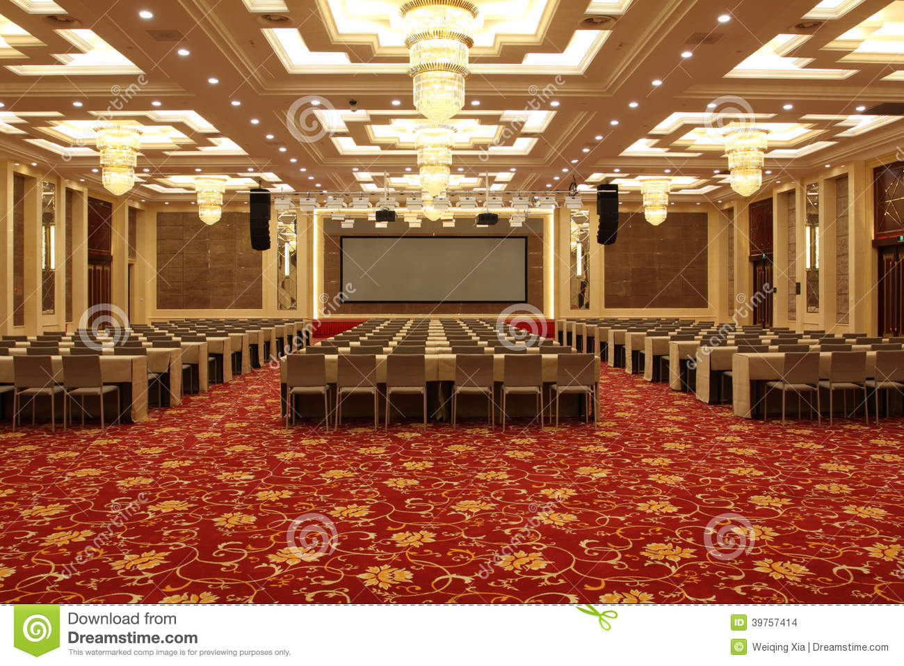 Conference Hall In Hotel Stock Photo Image Of Interior