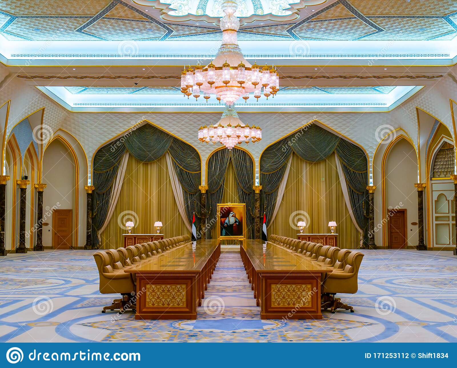 Conference Hall In President Palace In Abu Dhabi Editorial Photography Image Of Inside Indoor 171253112