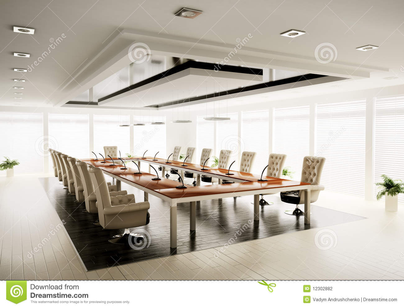 Conference Room 3d Render Stock Photography - Image: 12302882