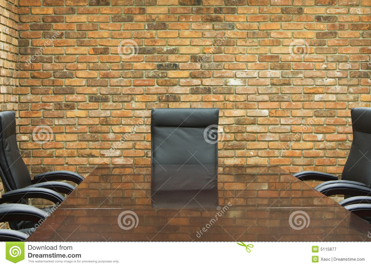Conference Room With Brick Wall Royalty Free Stock