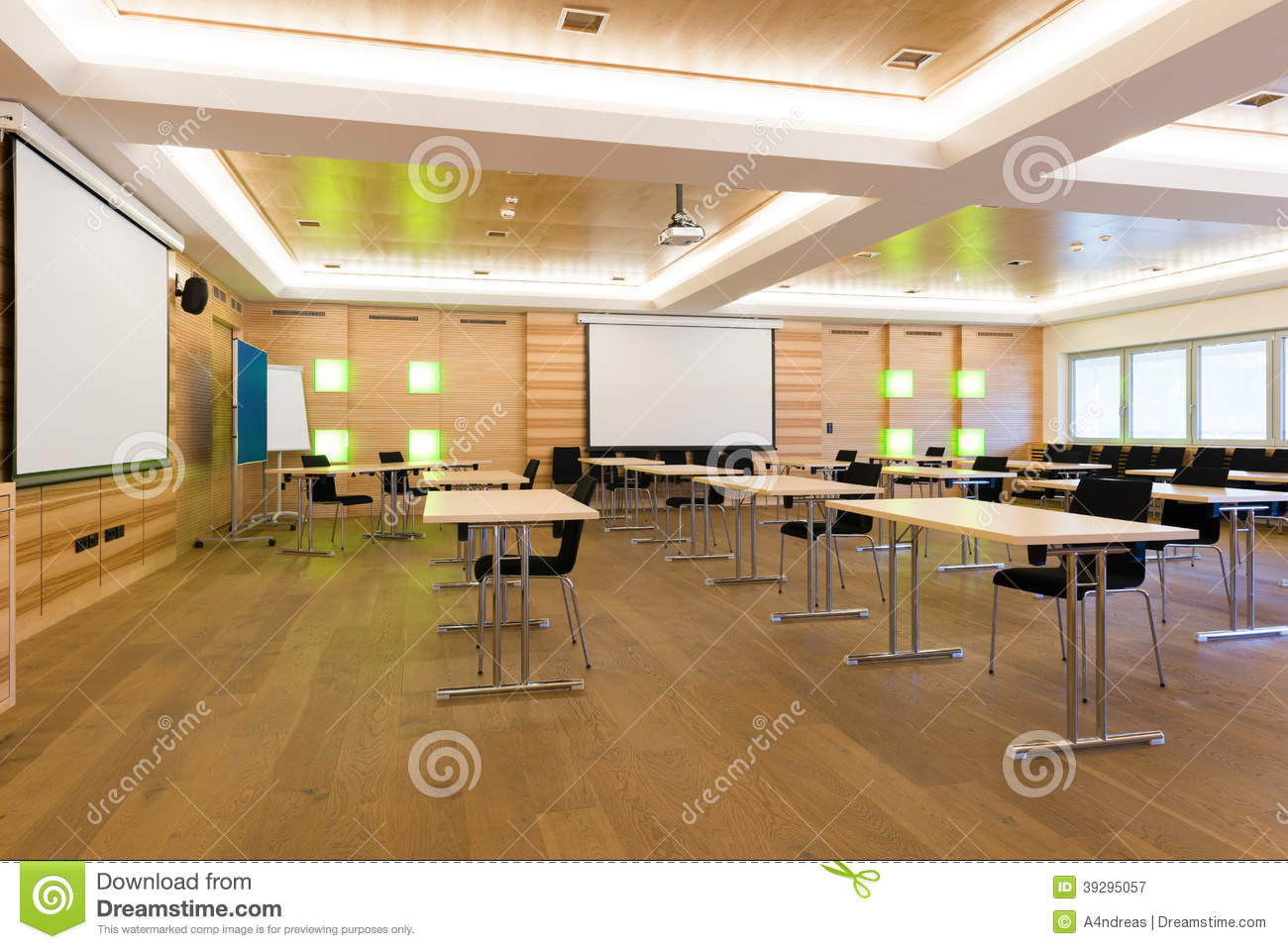 Modern Classroom Lesson Indicators : Conference room stock image of executive learning