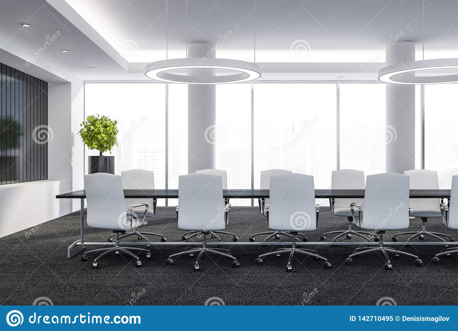 Amazing Conference Room With Table And Chairs Big Windows And City Squirreltailoven Fun Painted Chair Ideas Images Squirreltailovenorg