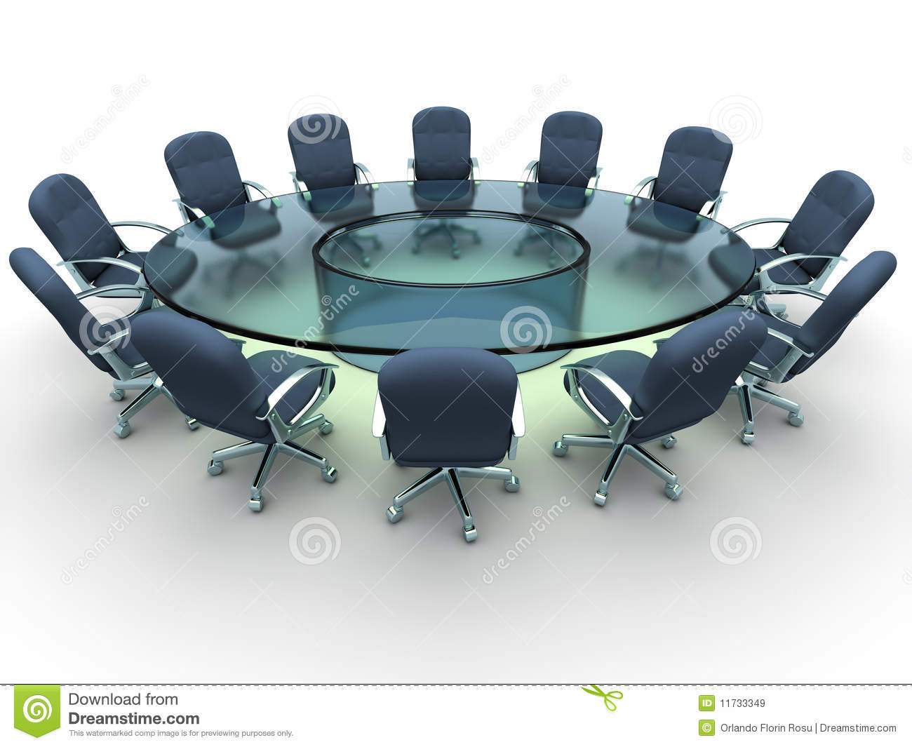 Conference Table Stock Illustration Illustration Of Office - Round glass conference table