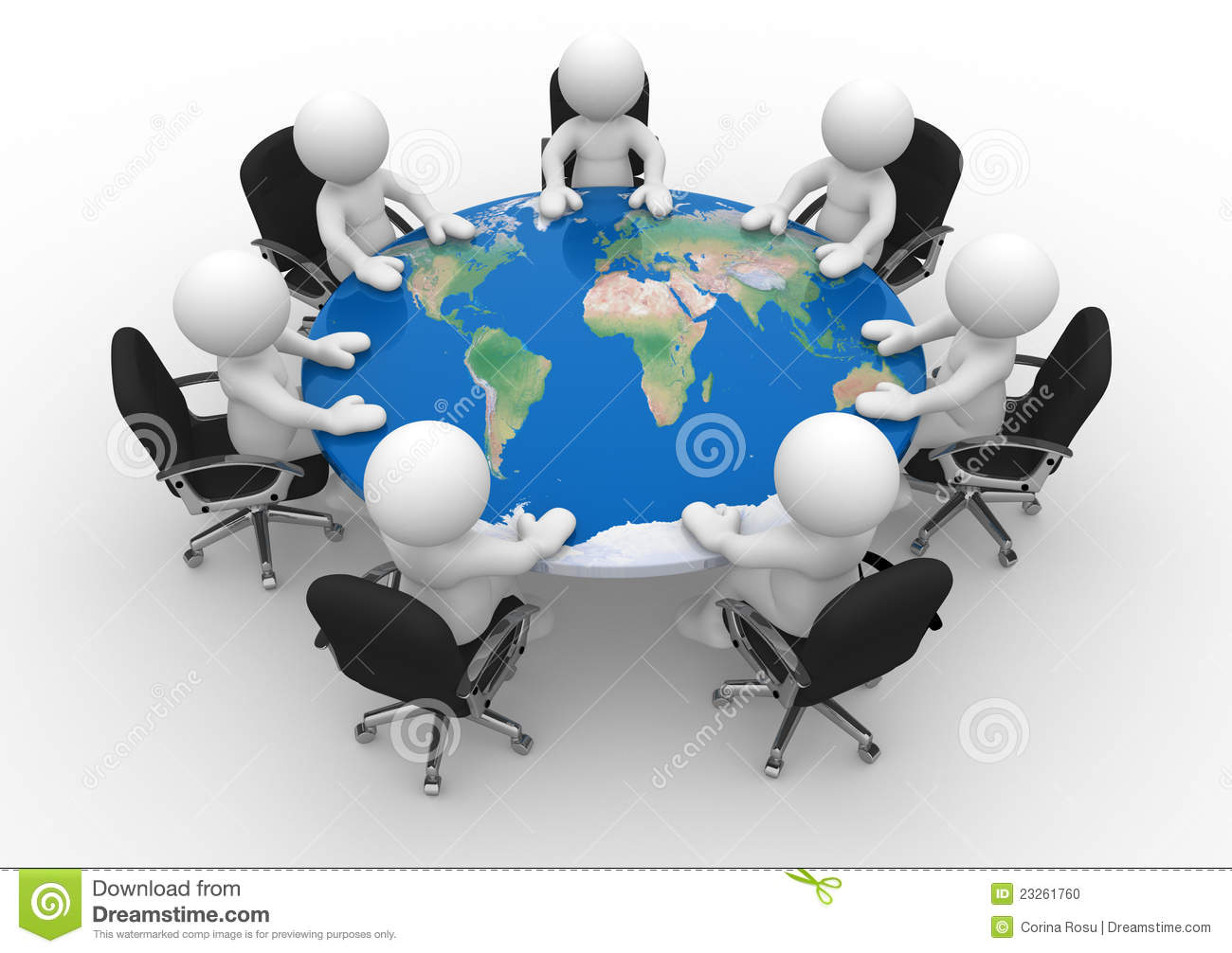 Conference table stock illustration. Image of cooperation ...