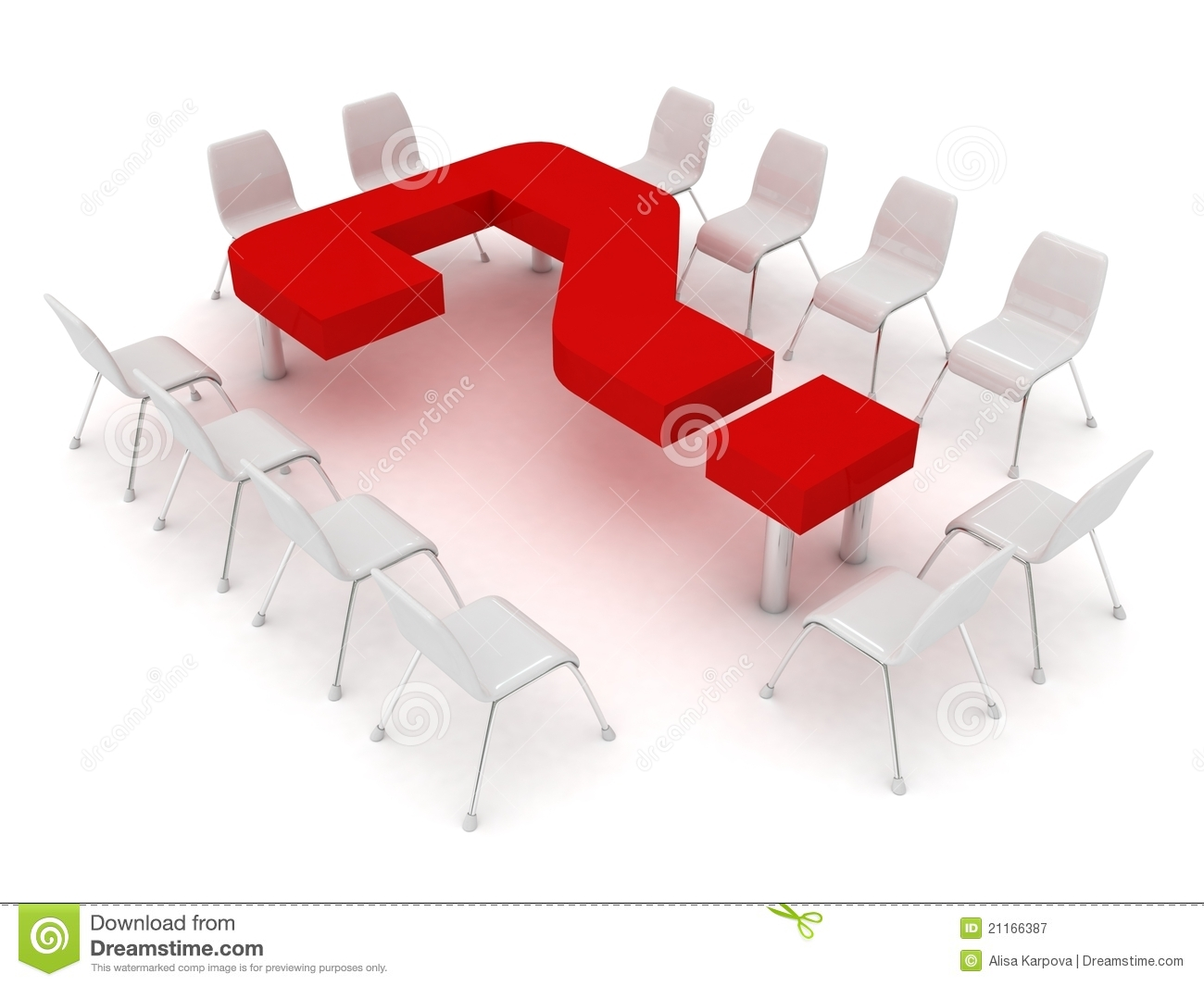 Conference Table In The Form A Question Mark An Royalty Free Stock graphy Image