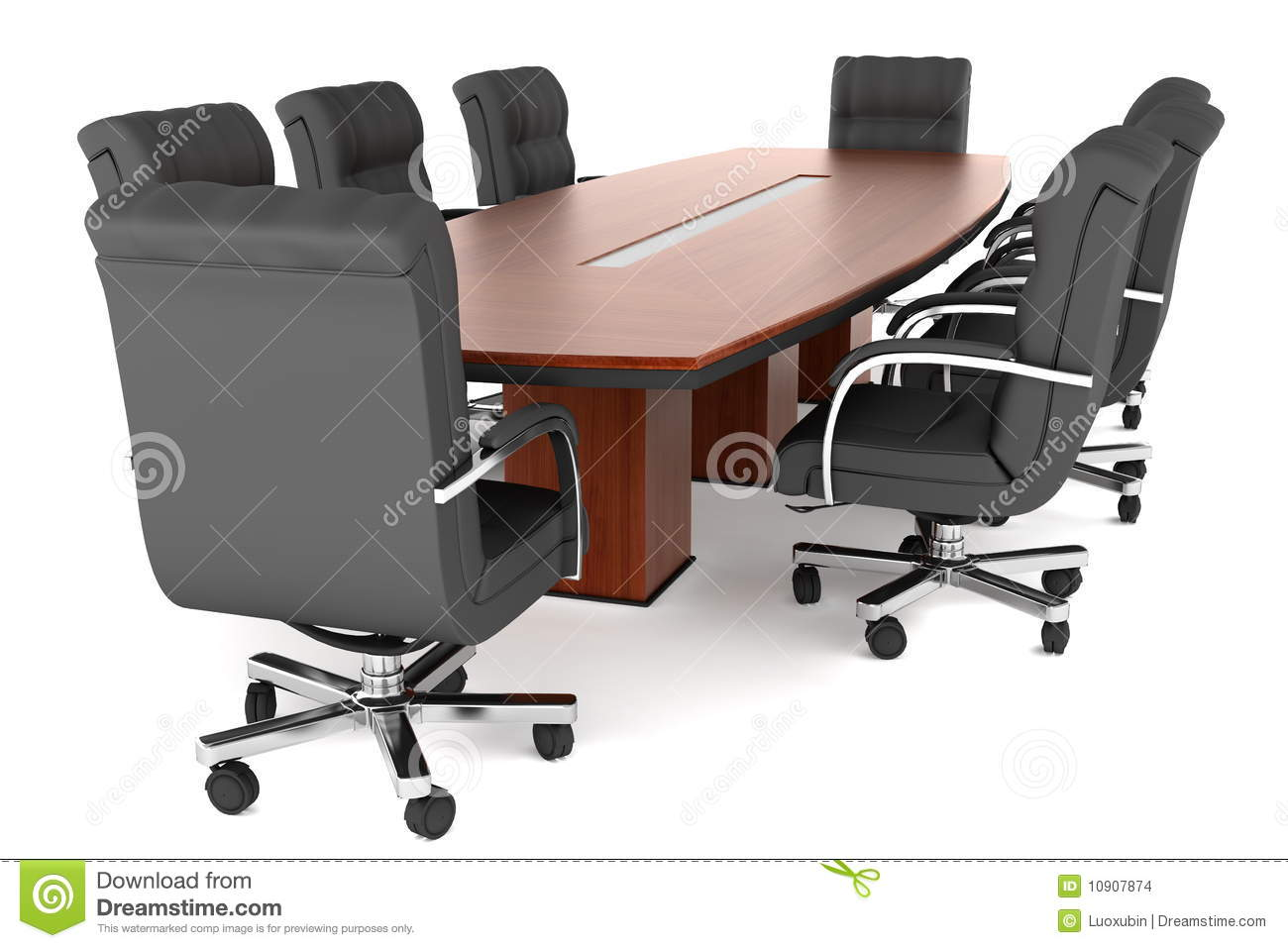 Conference Table And Office Chairs Stock Images Image 10907874