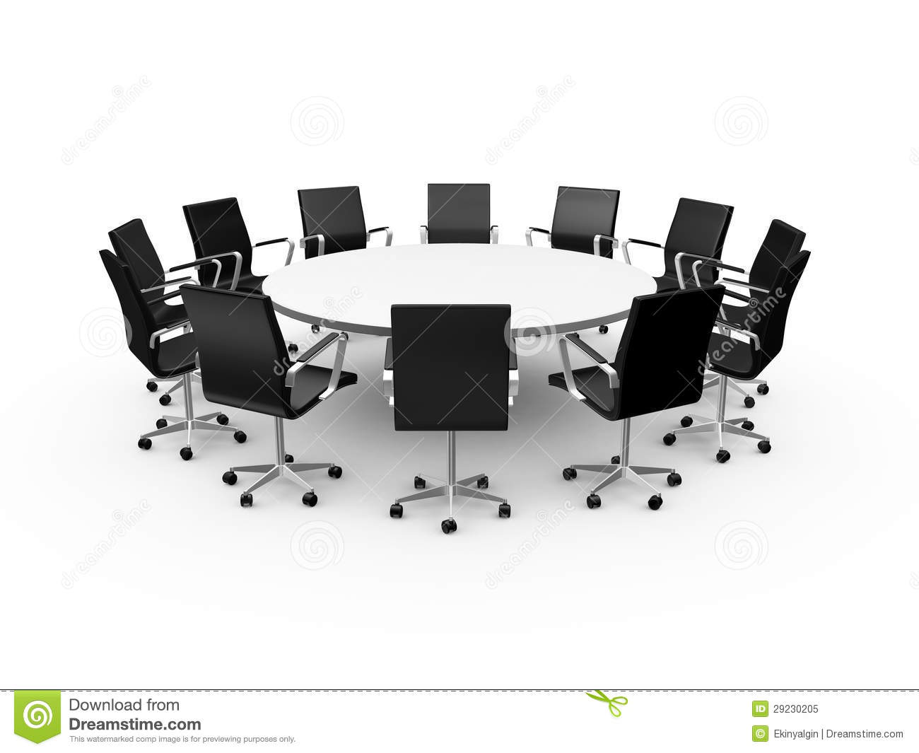 Sensational Conference Table And Office Chairs Stock Illustration Home Interior And Landscaping Eliaenasavecom