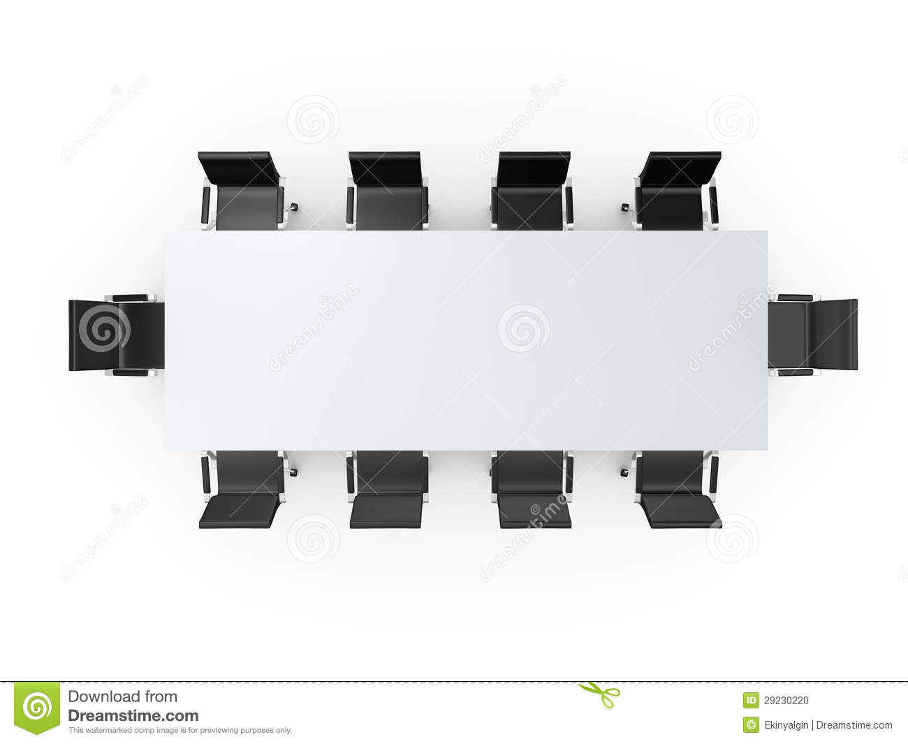 Office Table Chair Top View