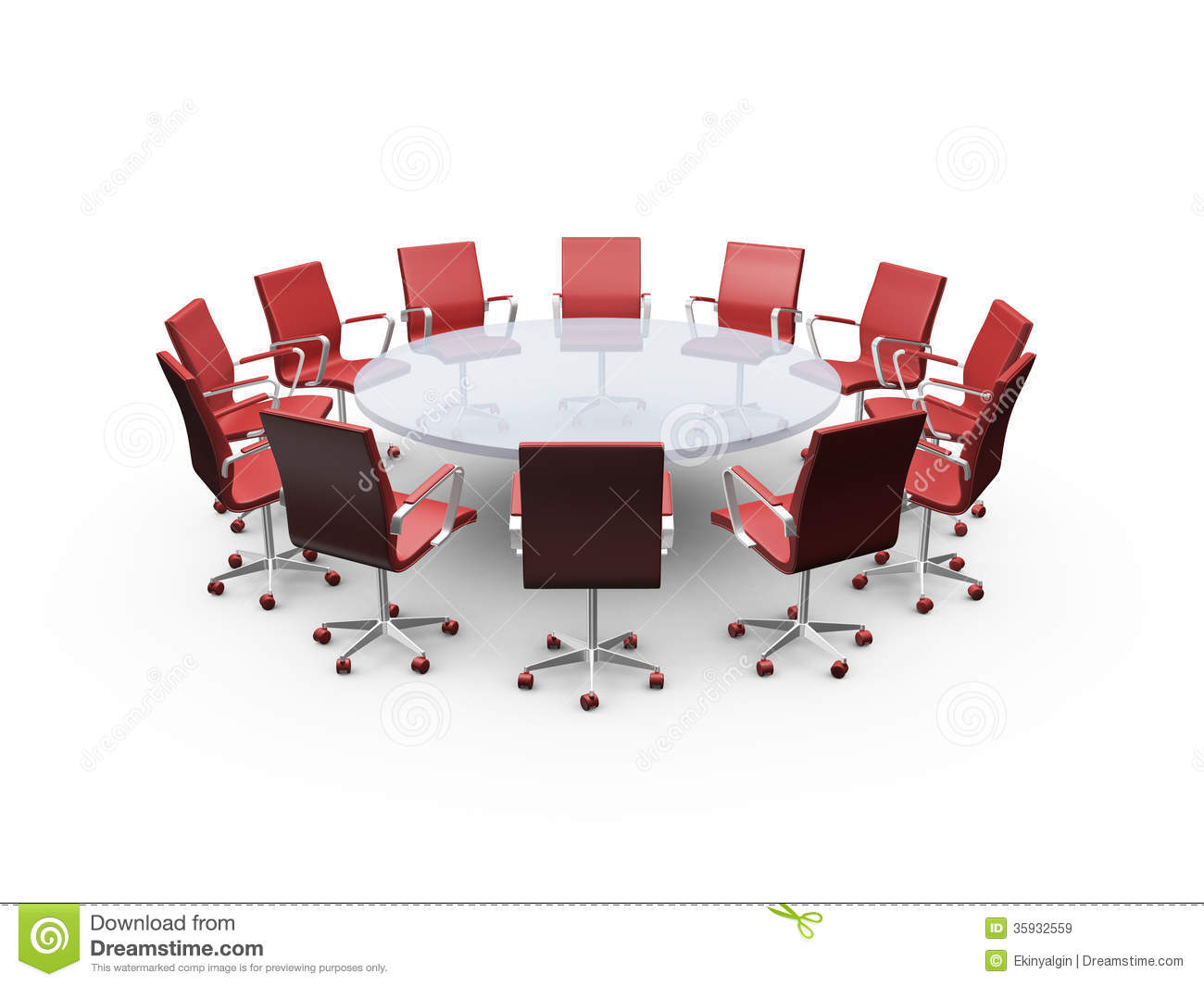 Conference Table And Office Chairs Stock Image Image 35932559