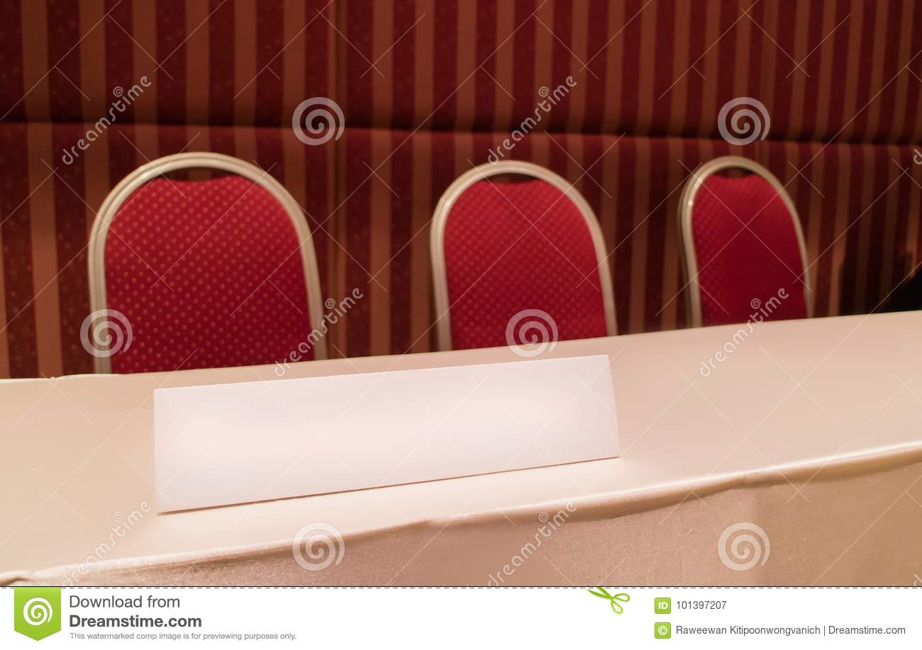 Conference Table With Red Chairs And Triangle Board In Meeting Room - Triangle conference table