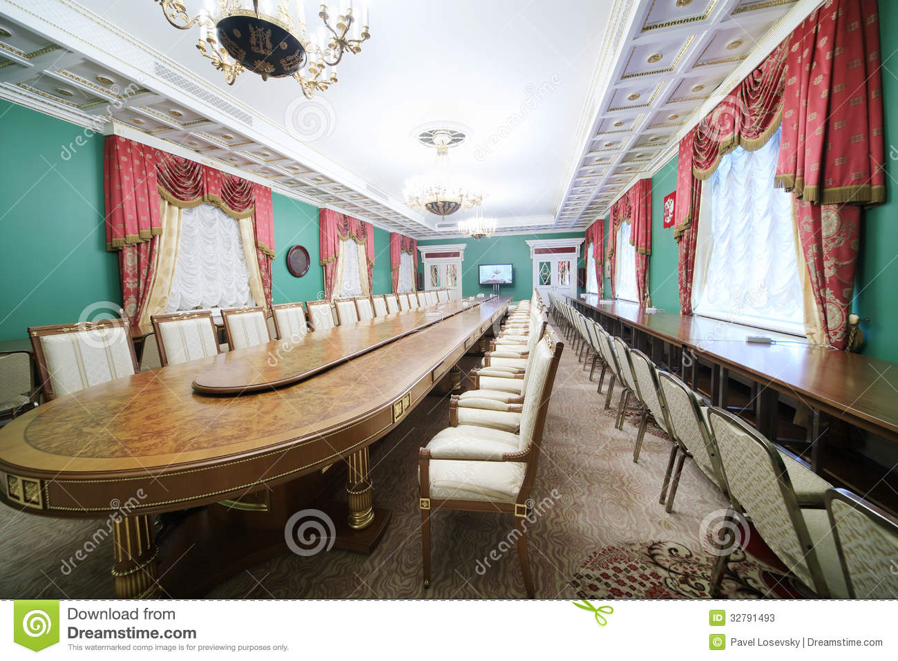 Conference table in state council editorial stock photo for Table moscow