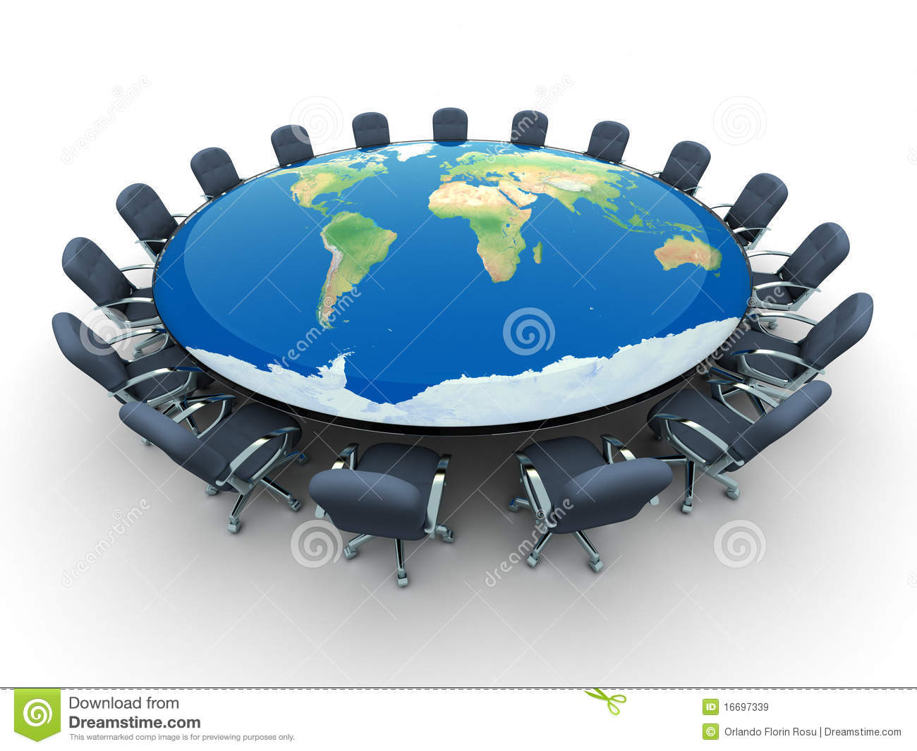 Conference Map Table World ...