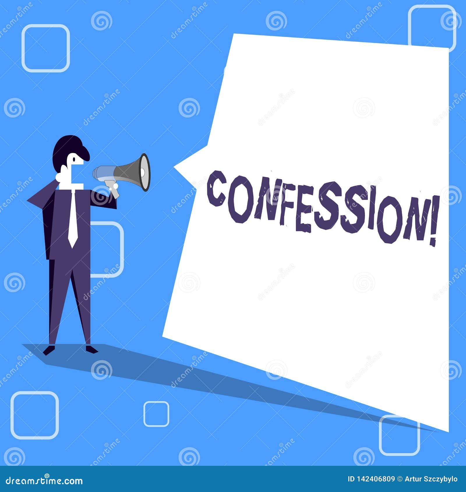 Confession d écriture des textes d écriture Affirmation d expression de Divulgence de révélation de révélation d admission de sig