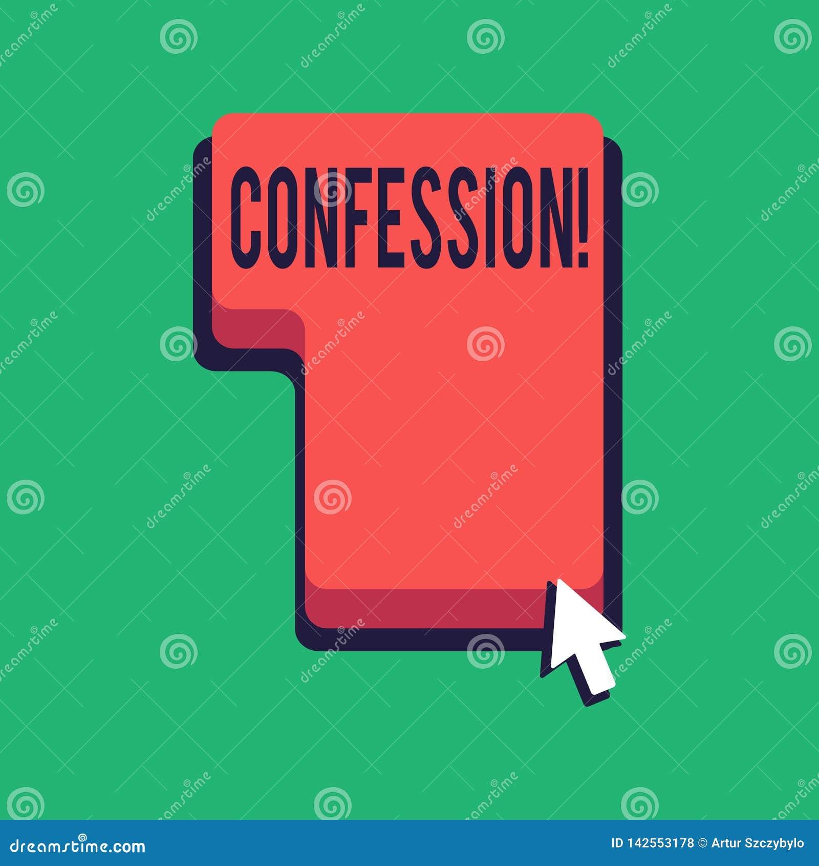 Confession des textes d écriture de Word Concept d affaires pour l affirmation d expression de Divulgence de révélation de révéla