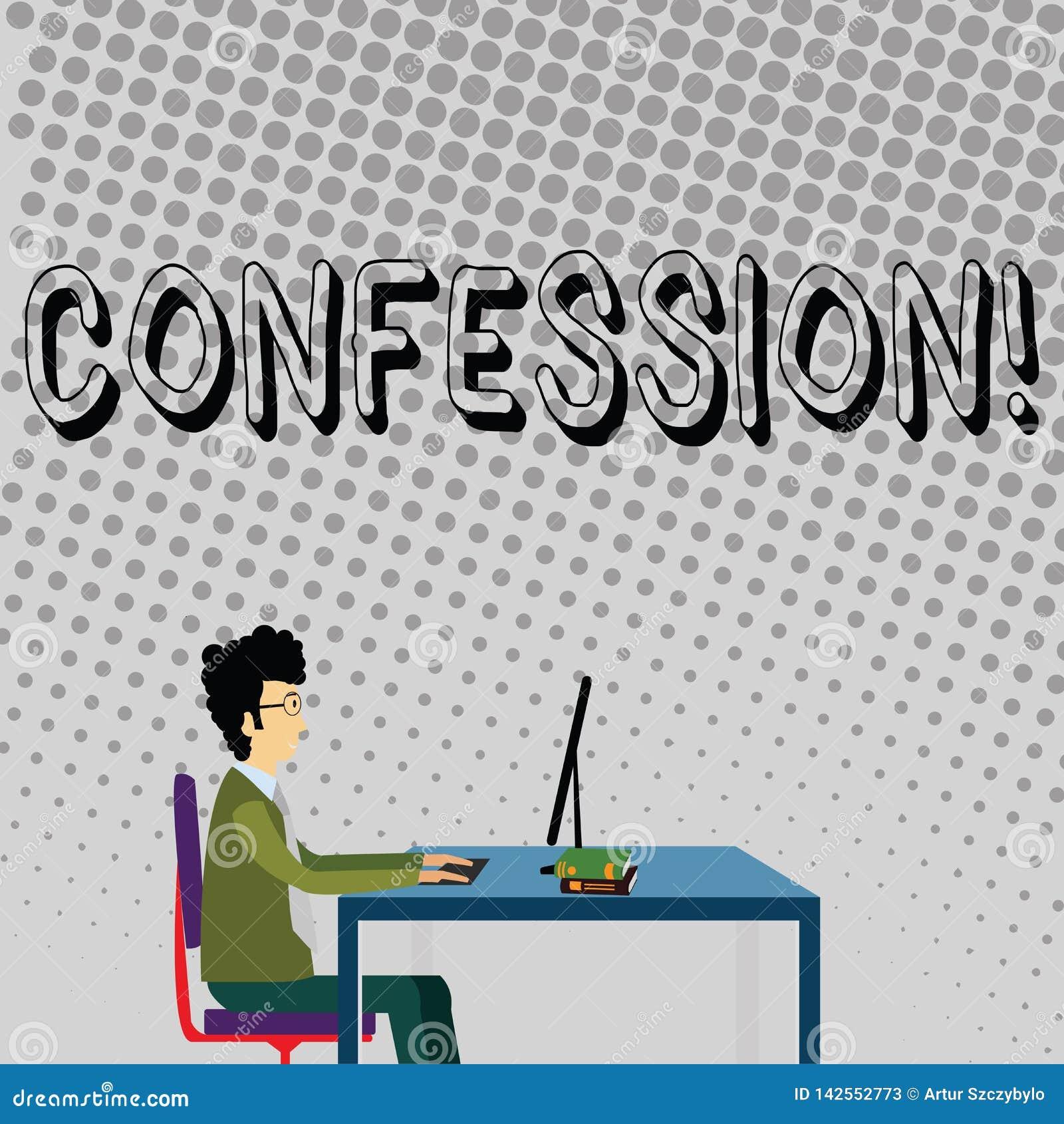 Confessione del testo della scrittura Uomo d affari di asserzione di espressione di Divulgence di rivelazione di rivelazione di a