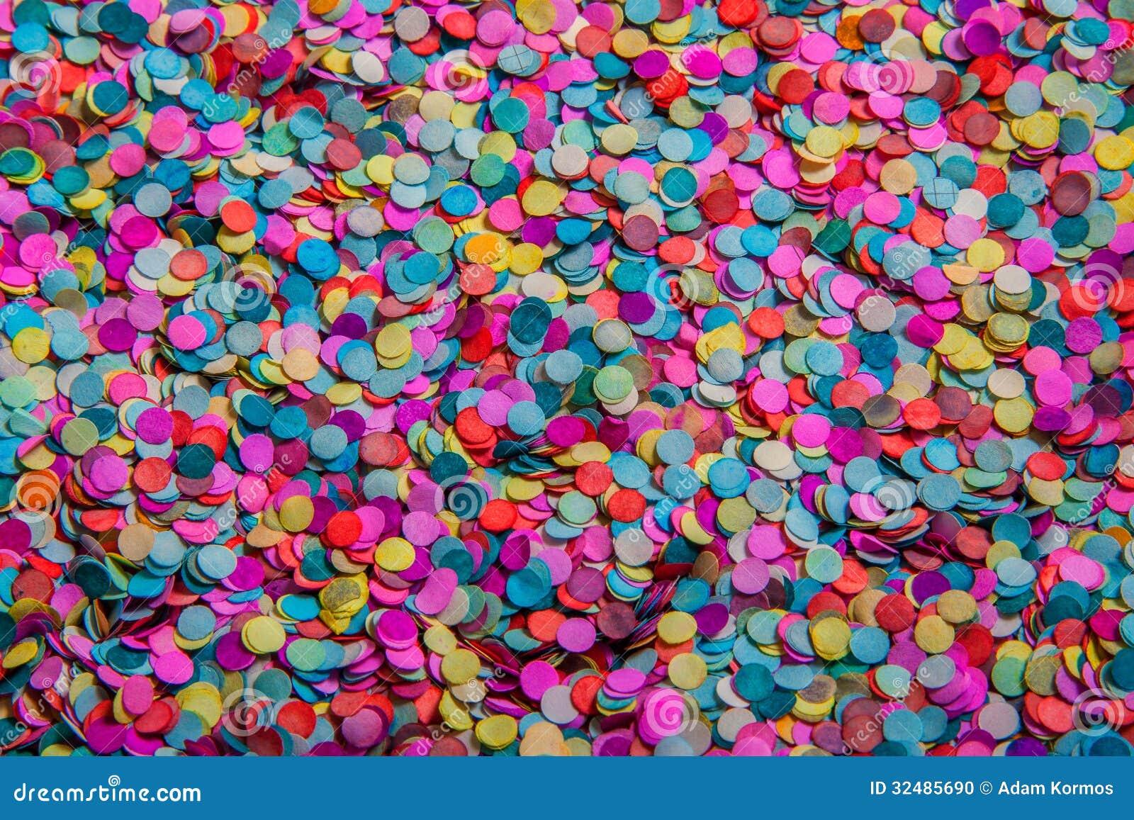 Confetes Coloridos Foto De Stock Imagem De Vermelho