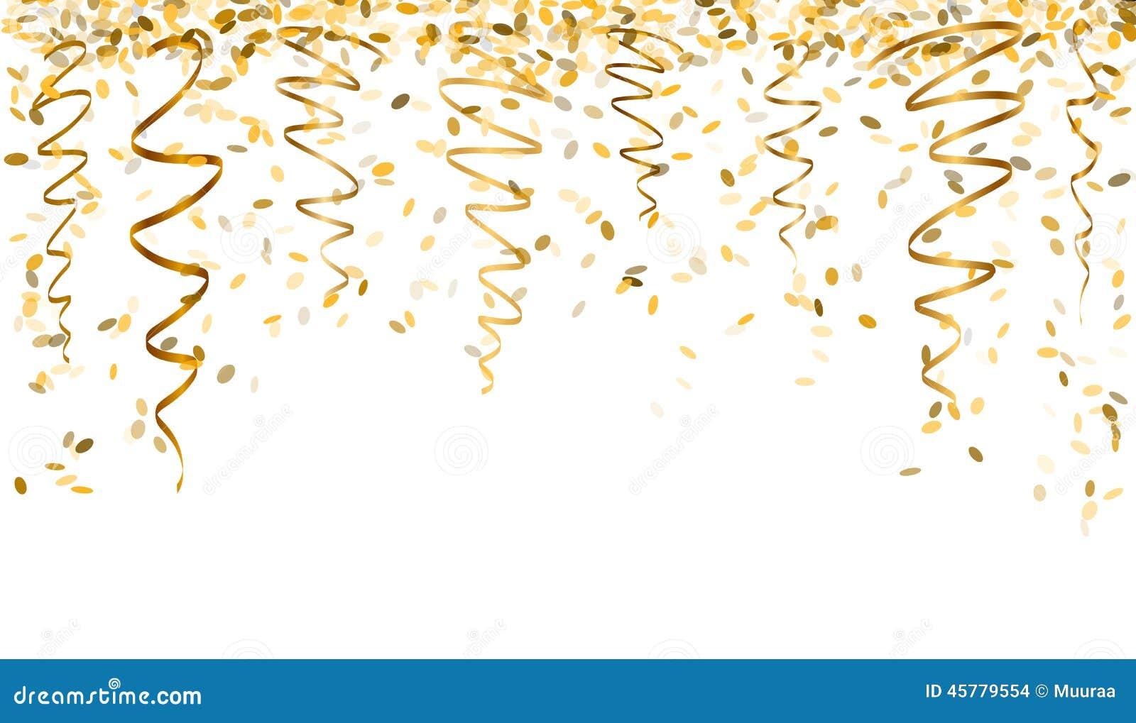 Confetes de queda do ouro