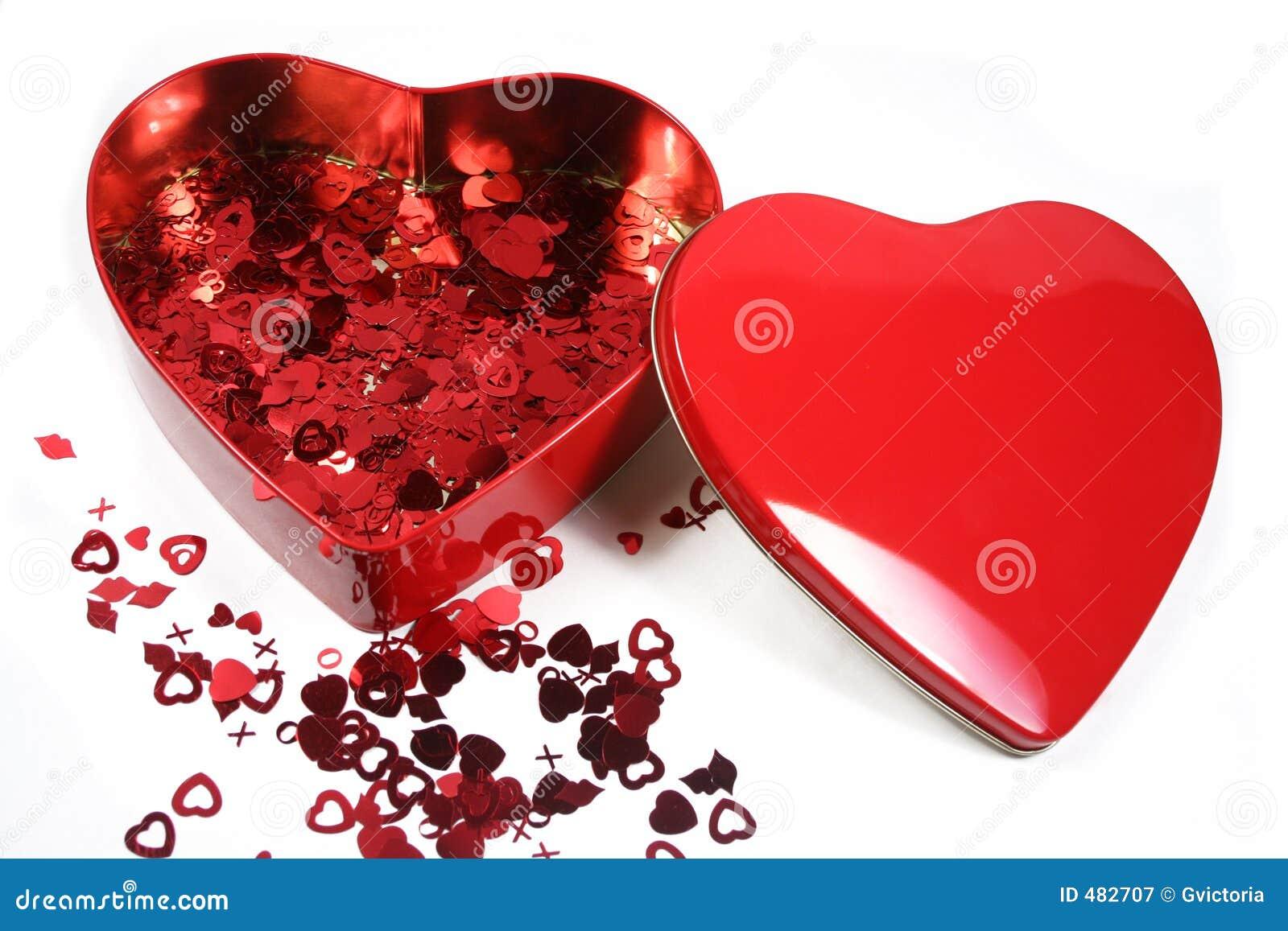Confeti de la tarjeta del día de San Valentín