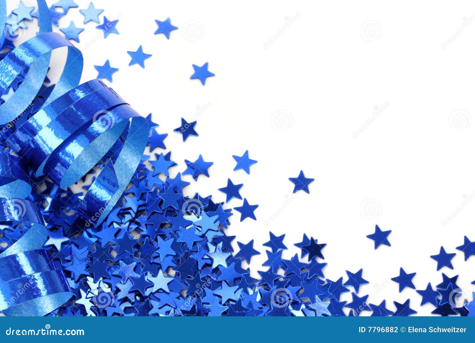Fotograf  A De Archivo  Confeti De Las Estrellas Azules