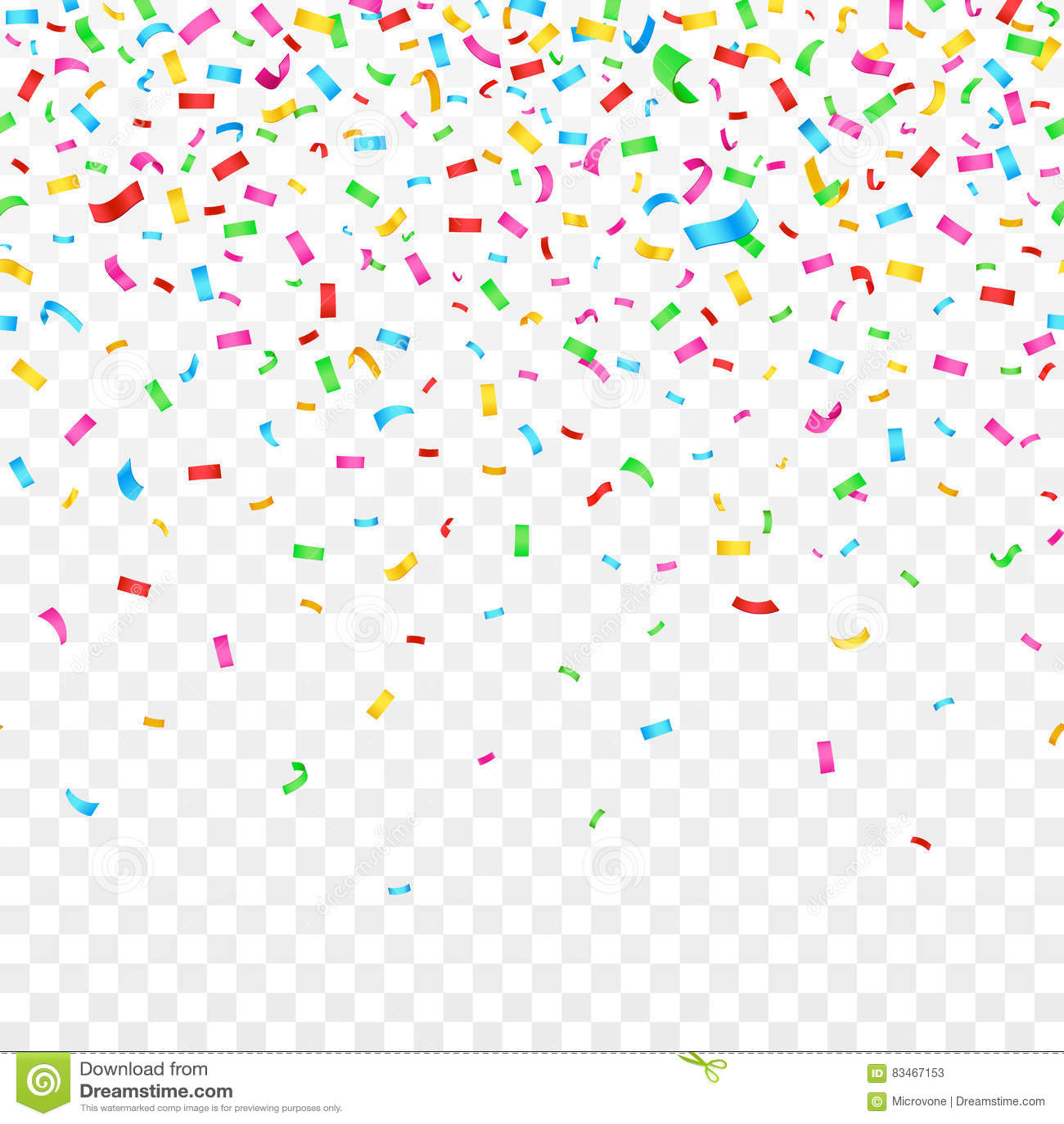 Confeti que cae en fondo a cuadros decoración del día de fiesta del partido de la celebración