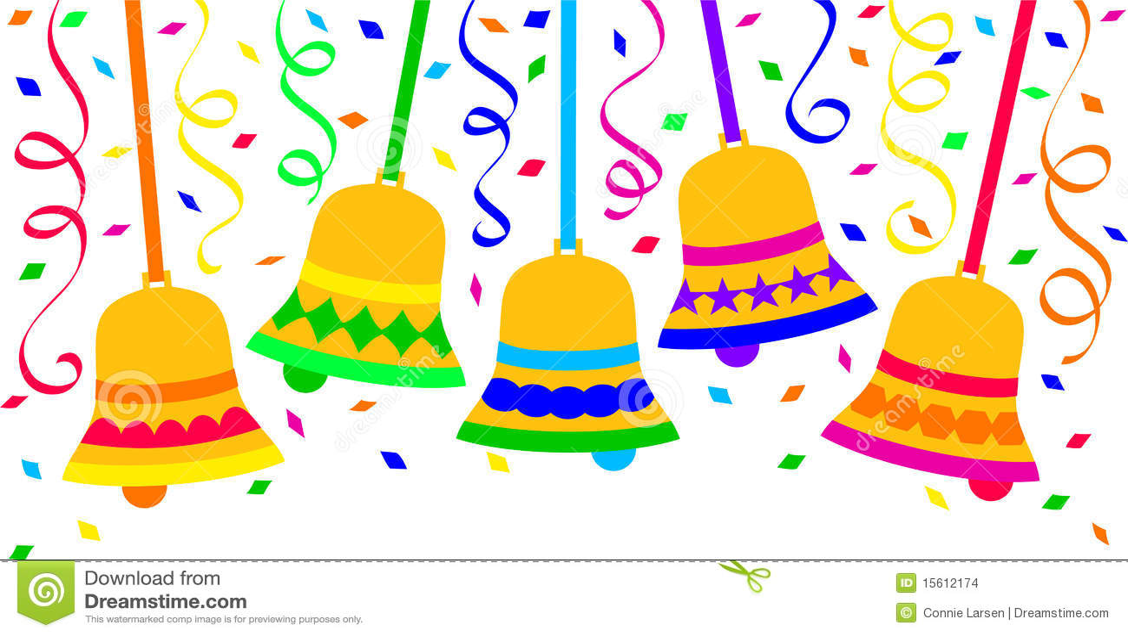 Confetti Bells Fiesta Celebration/eps