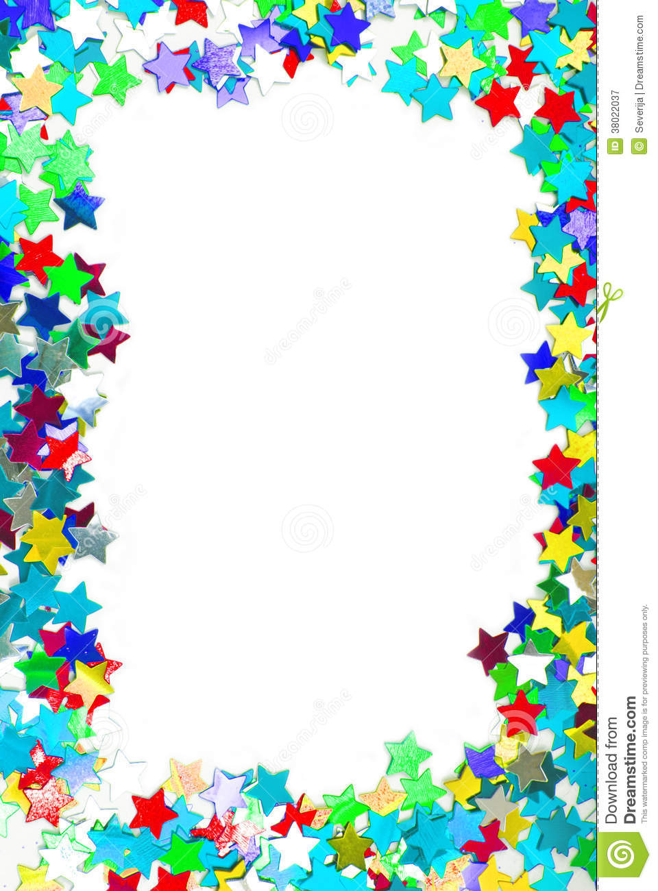 Confetti Colorful Frame Border Stock Image Image Of