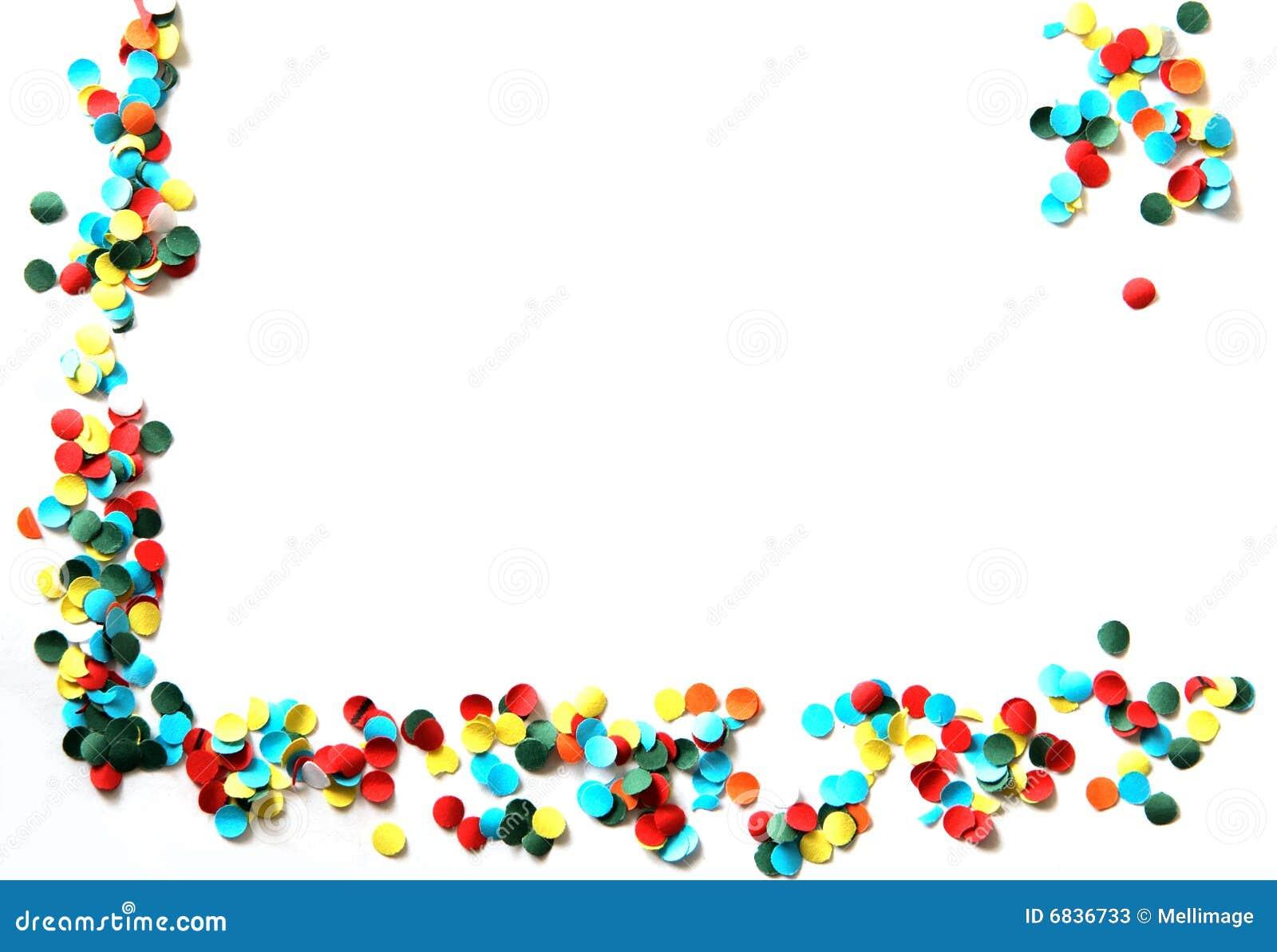 Marvelous Confetti Corner Stock Photos