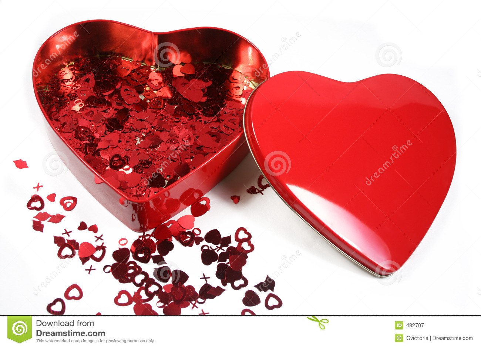 Confetti des Valentinsgrußes