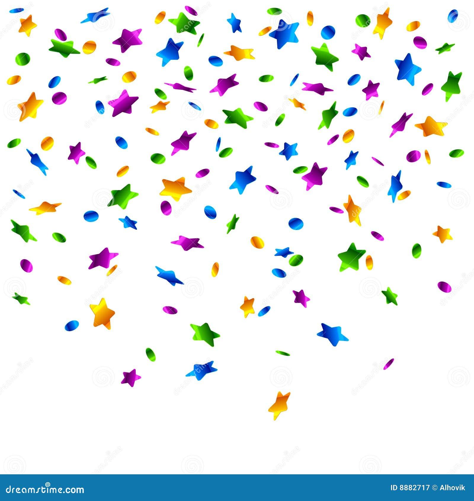 Confetti deszcz