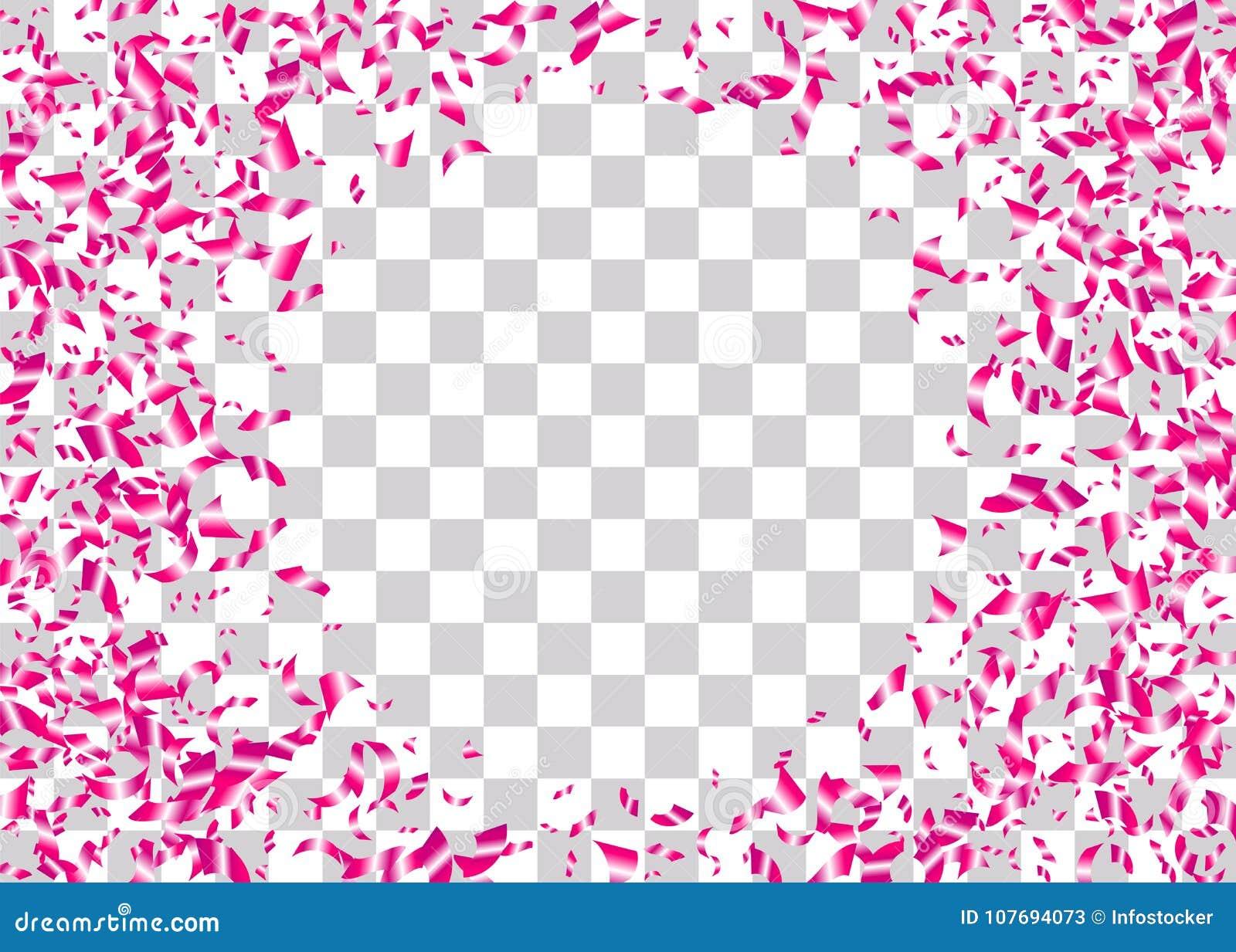 Confetti Foil Transparent Background Stock Vector Illustration Of