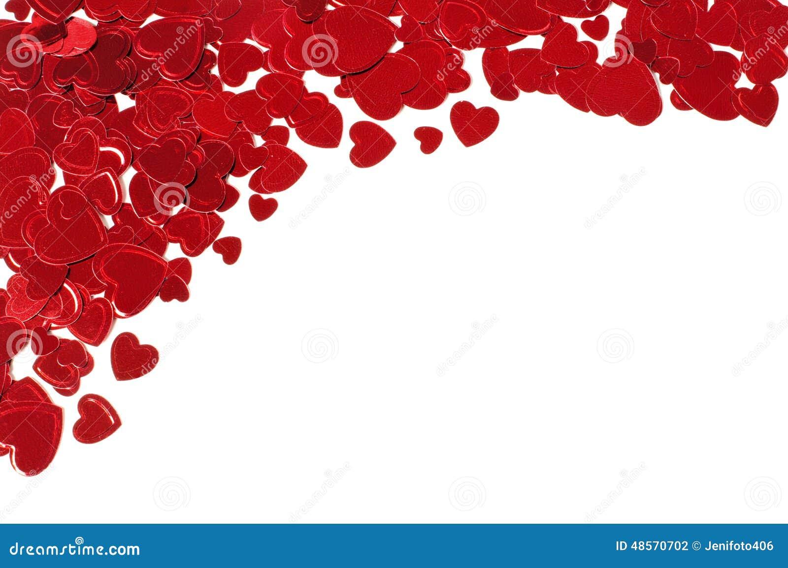 Confetti Hearts Corner Border Stock Photo - Image of ...