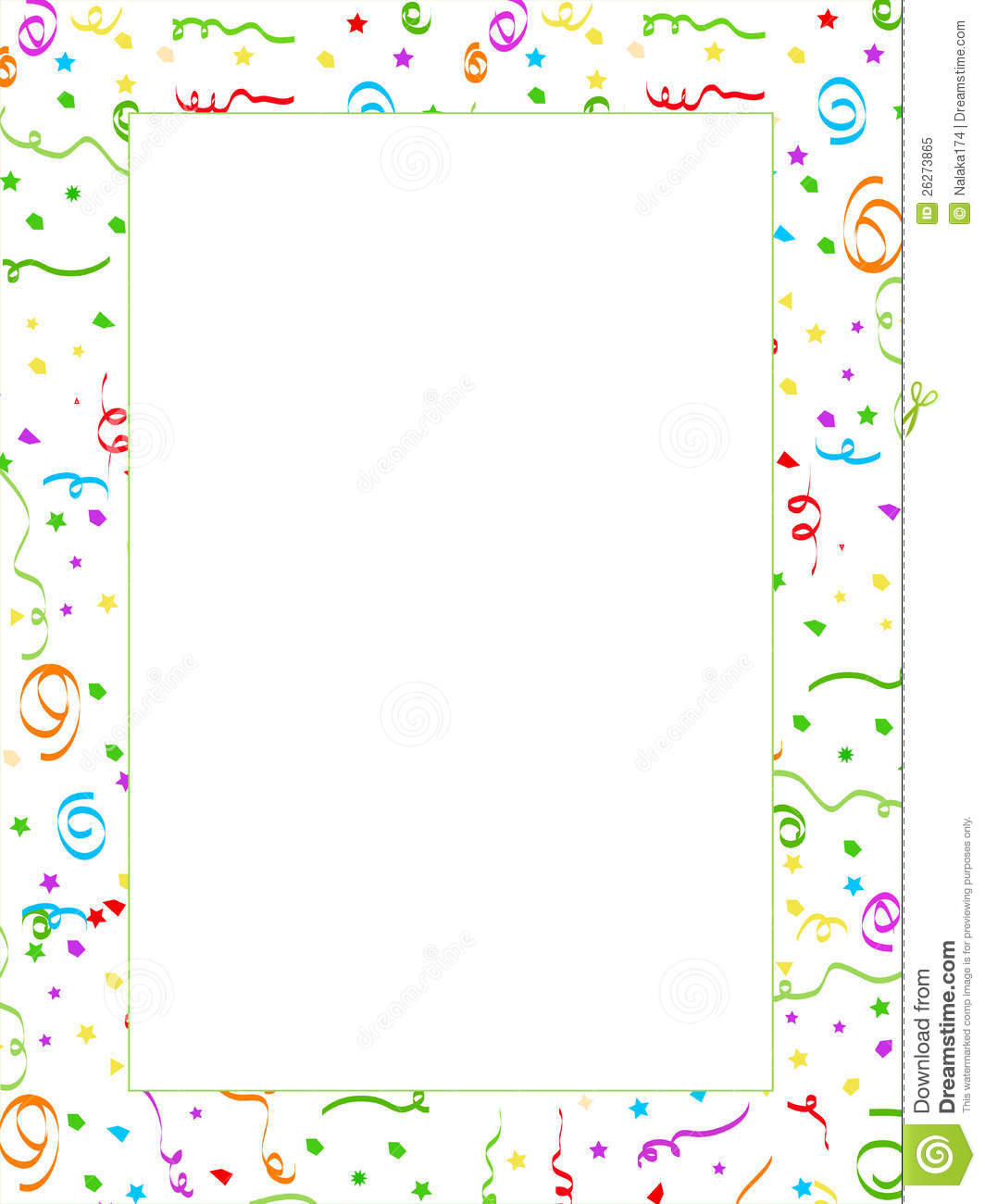 Royalty Free Stock Photo: Confetti page. Image: 26273865