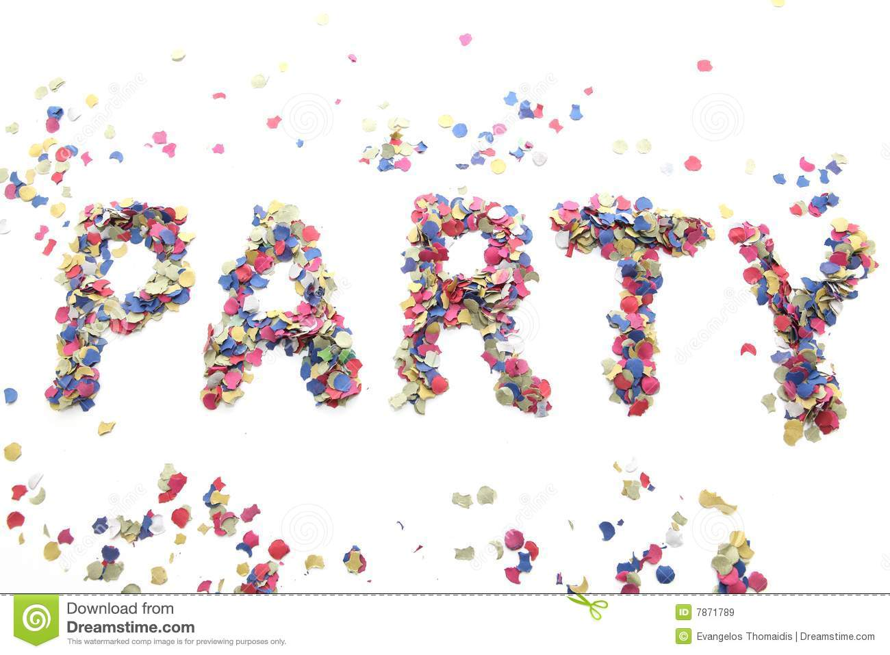 Confetti Party Royalty Free Stock Images - Image: 7871789