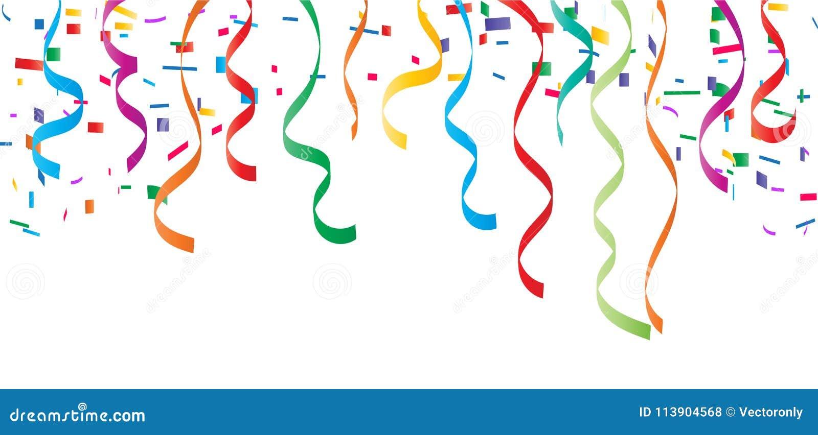 confetti top border vector illustration stock vector illustration