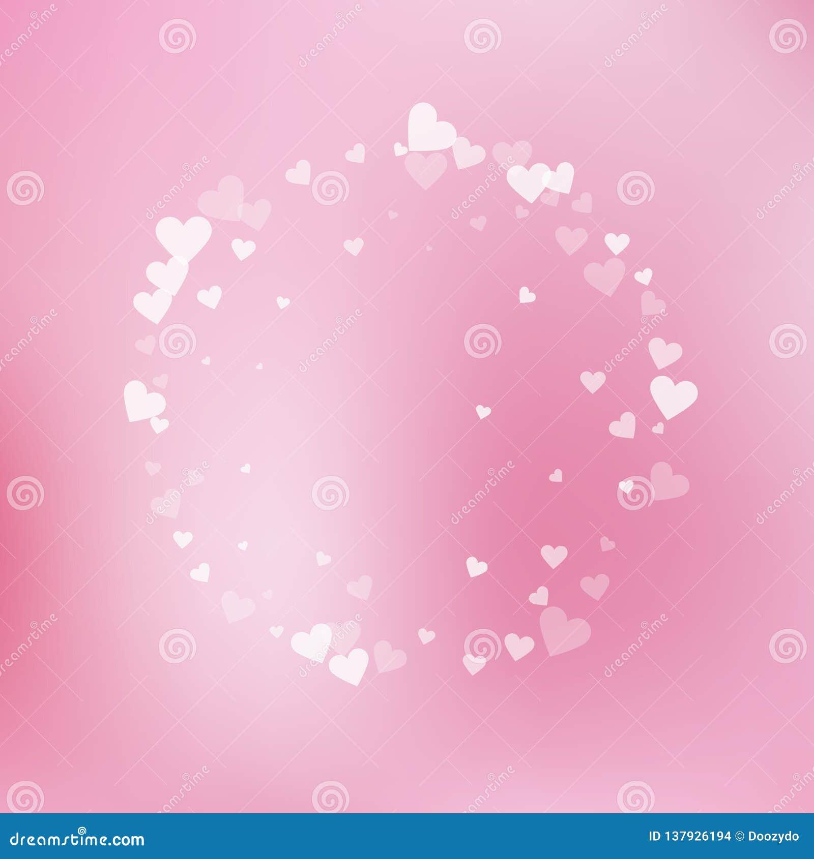 Confettis blancs d amour de coeur Trame de jour du `s de Valentine