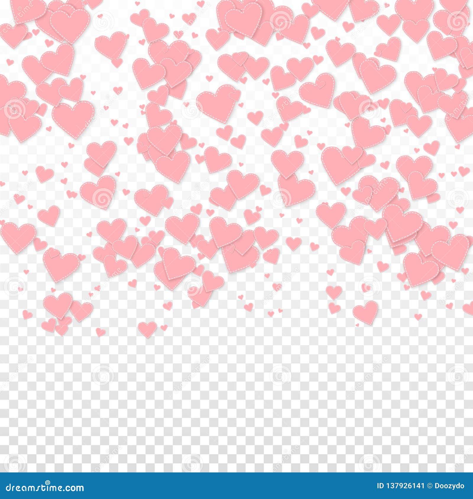 Confettis roses d amour de coeur La Saint-Valentin gradien