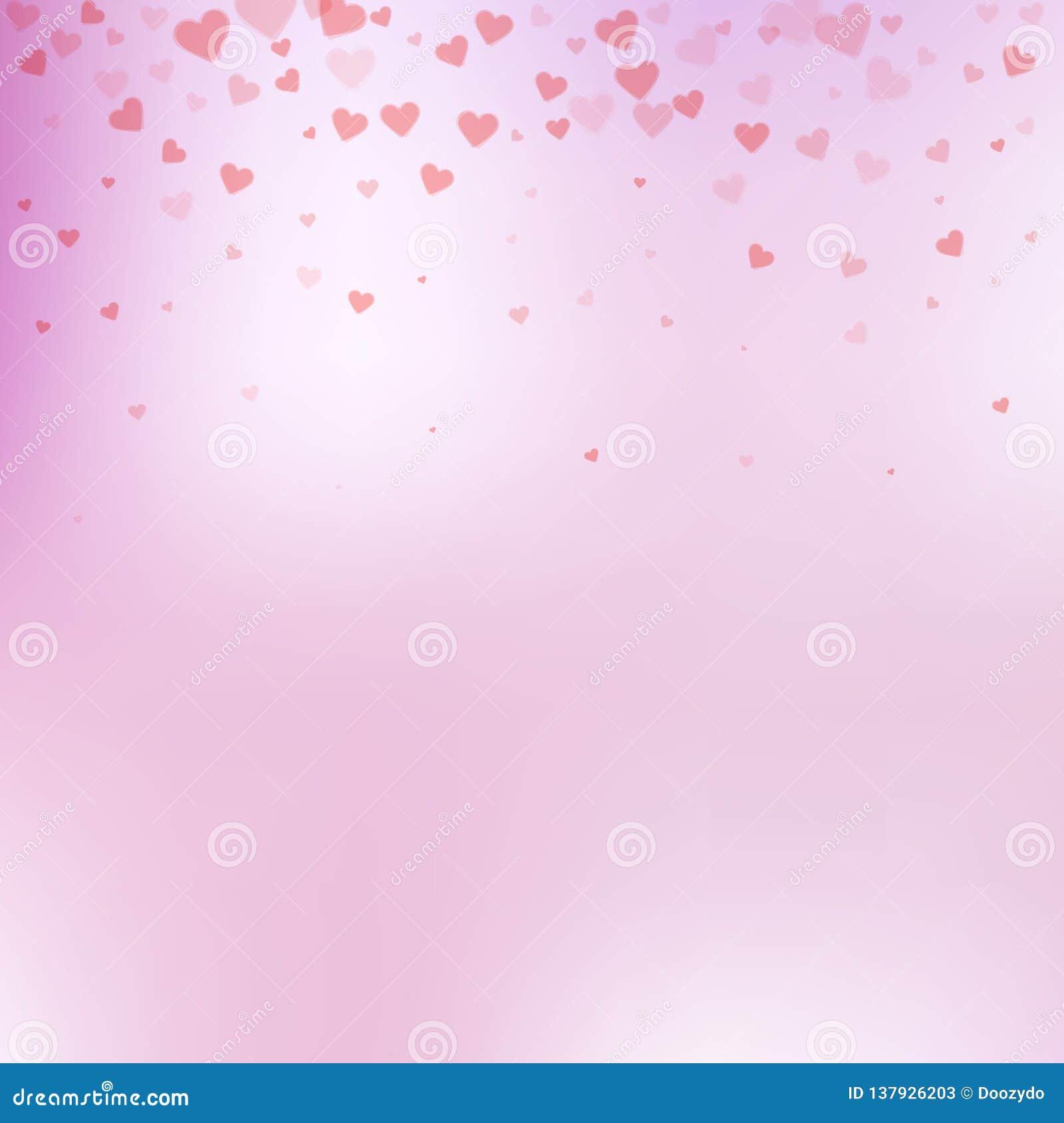 Confettis rouges d amour de coeur Gradient de Saint-Valentin