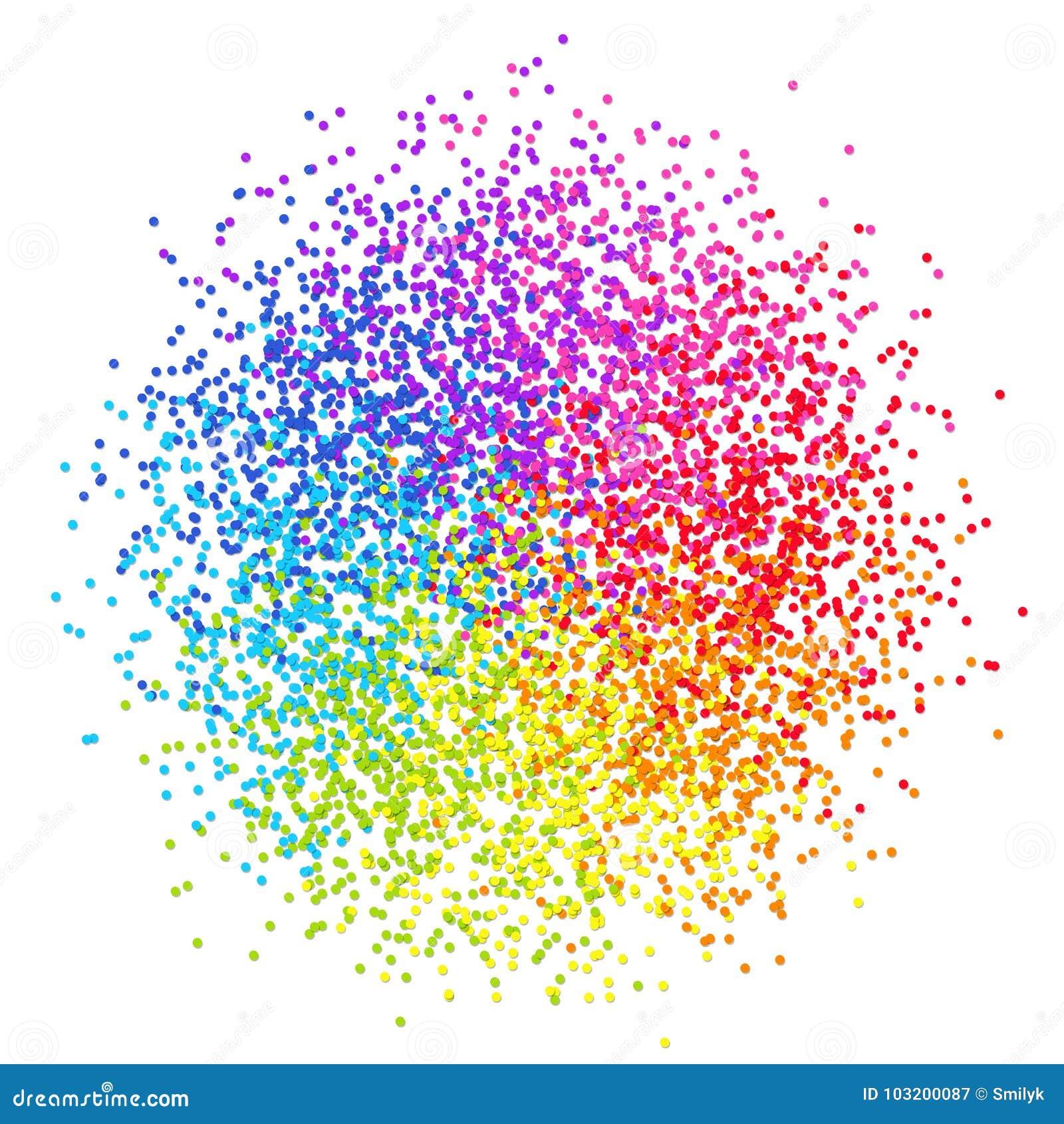 Confettis stylisés par élément coloré de conception d isolement sur le dos de blanc