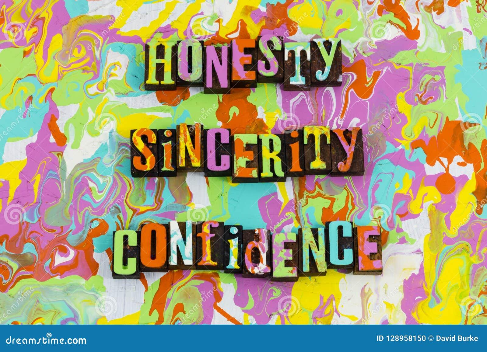 Confiance de sincérité d honnêteté