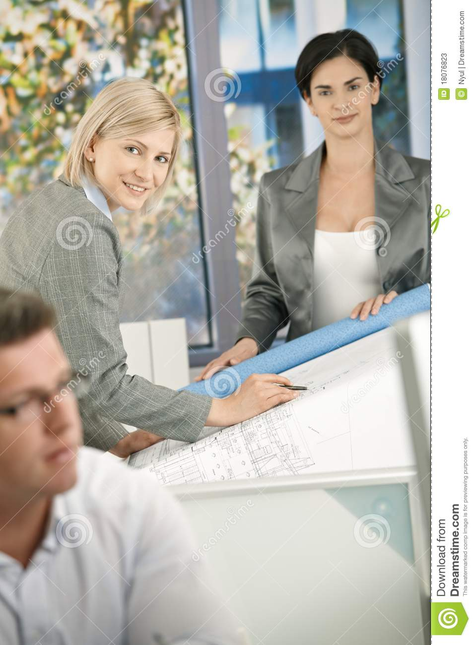 Confident architects at work stock photos image 18076823 for Architect at work