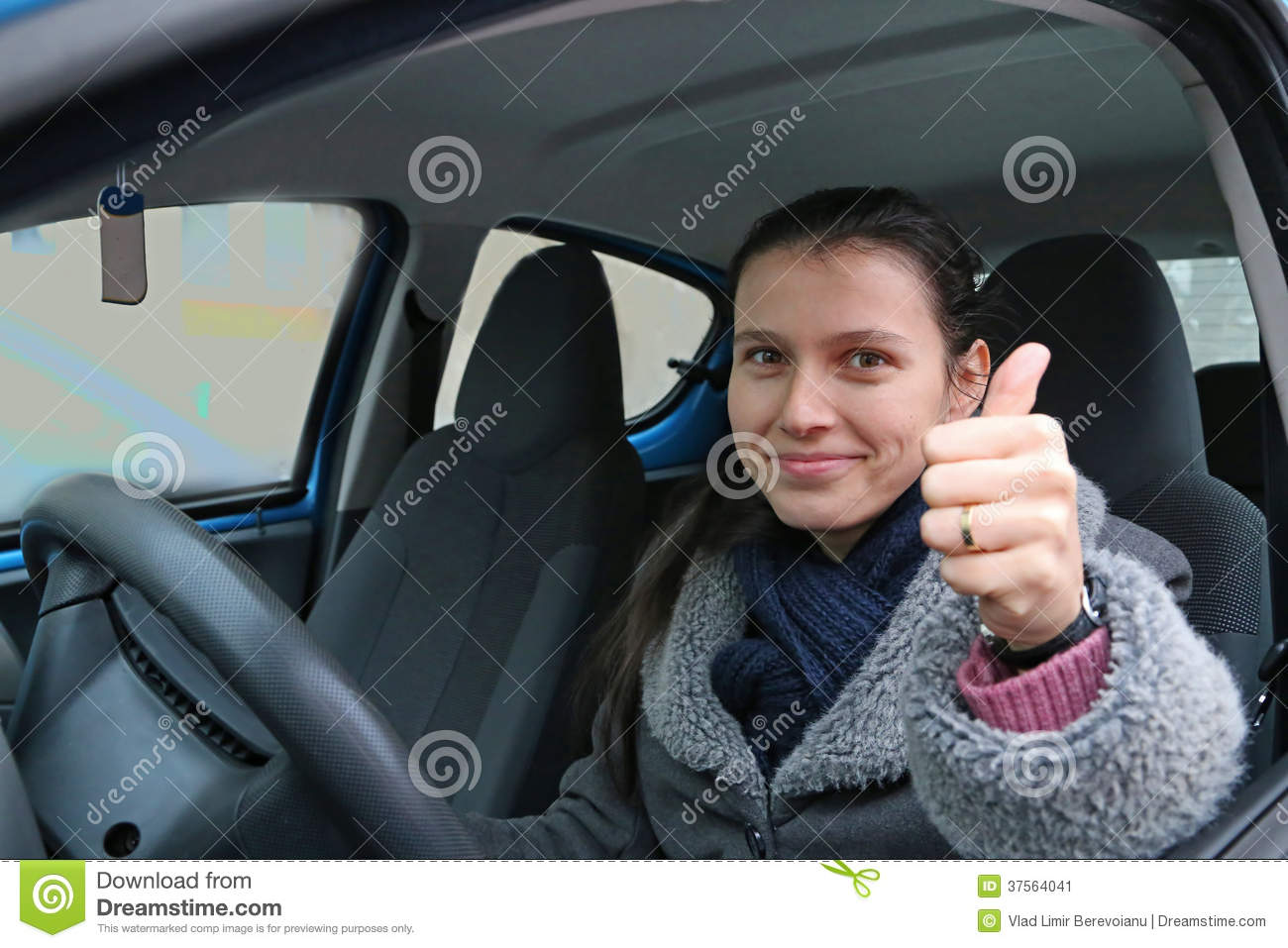 Confident Woman Taxi Driver Stock Image - Image of taxi ...