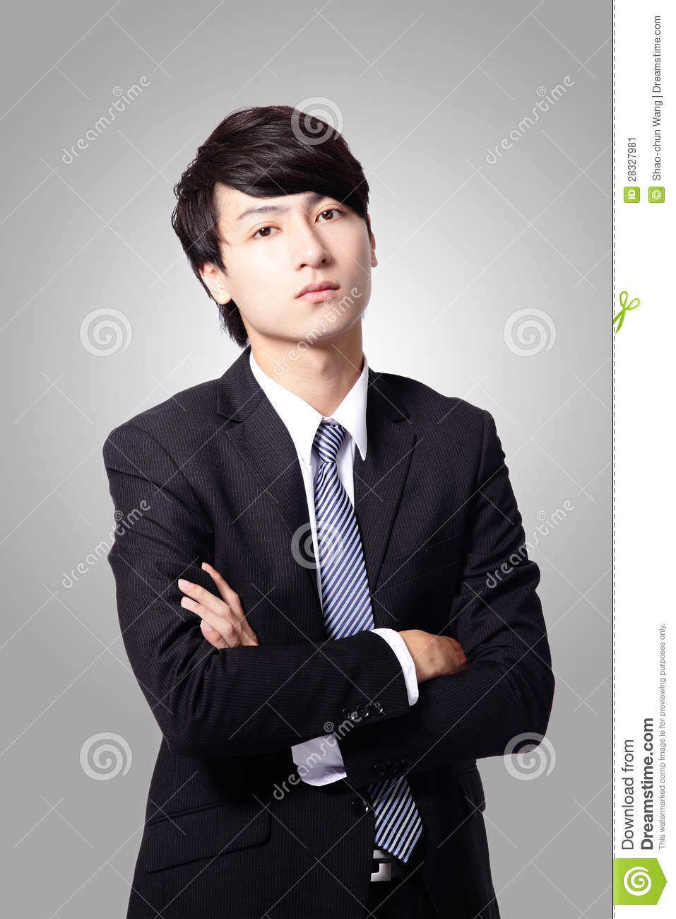 Confident Business Man Cross His Arms Stock Image - Image