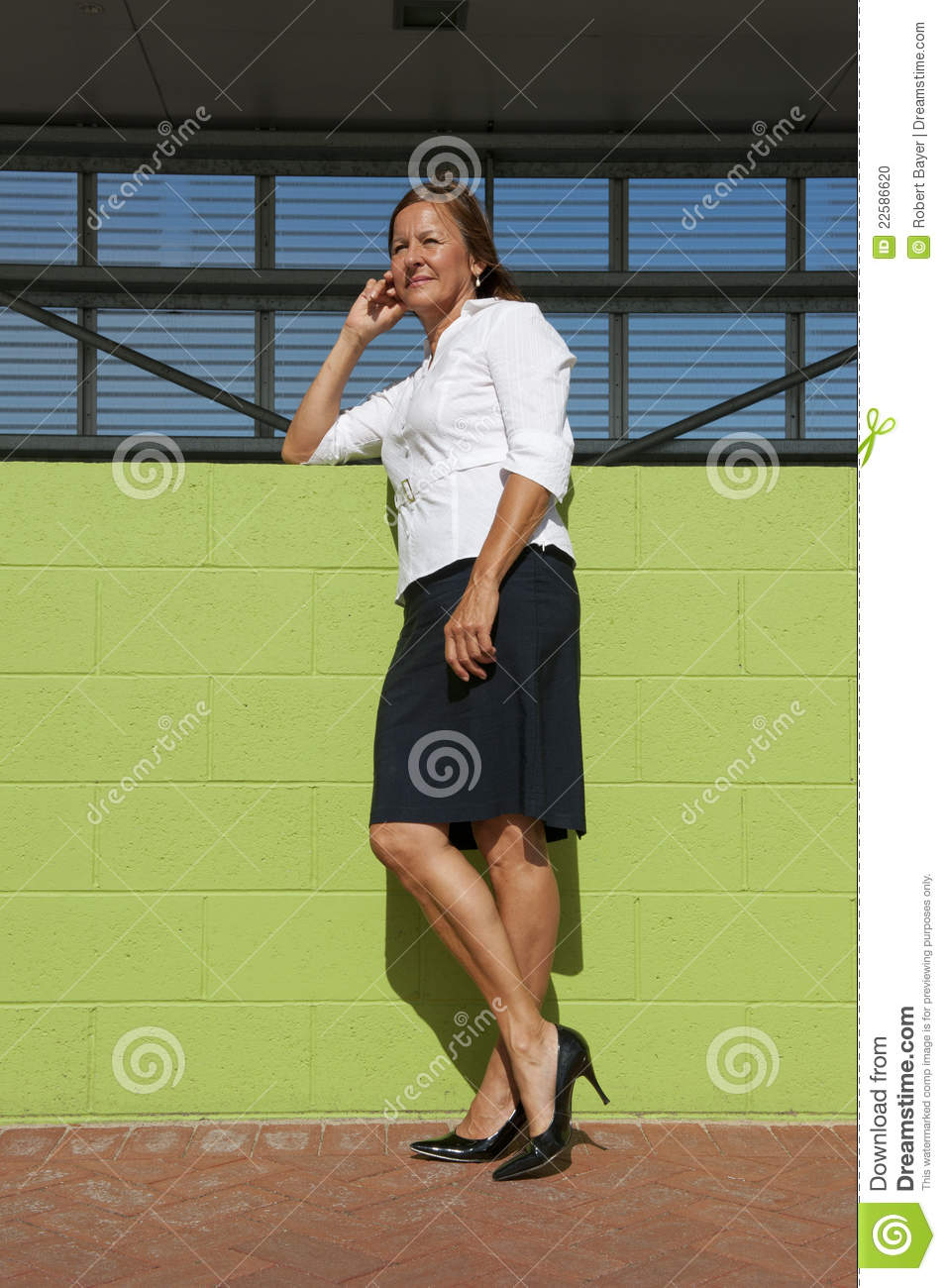 Confident Business Woman Posing Outdoor Stock Photo - Confident Business Woman Posing Outdoor Stock Photo - Image: 22586620