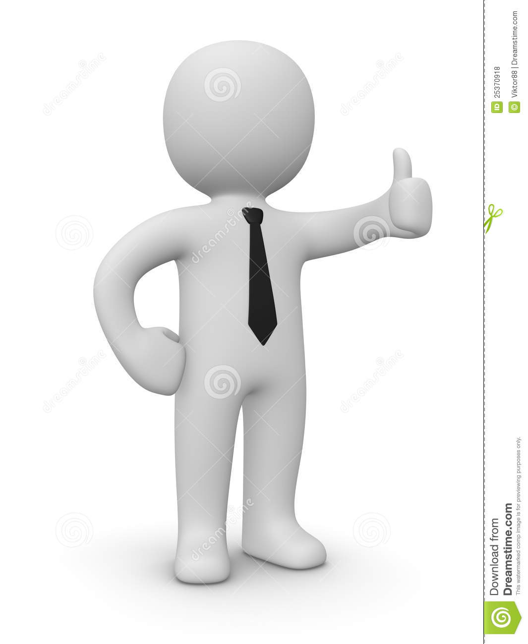 Confident businessman showing thumbs up sign royalty free stock photos