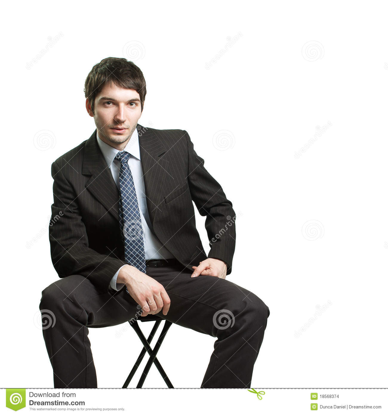 Confident Businessman Sitting On Chair Stock Photo - Image ... Грустный Мужчина