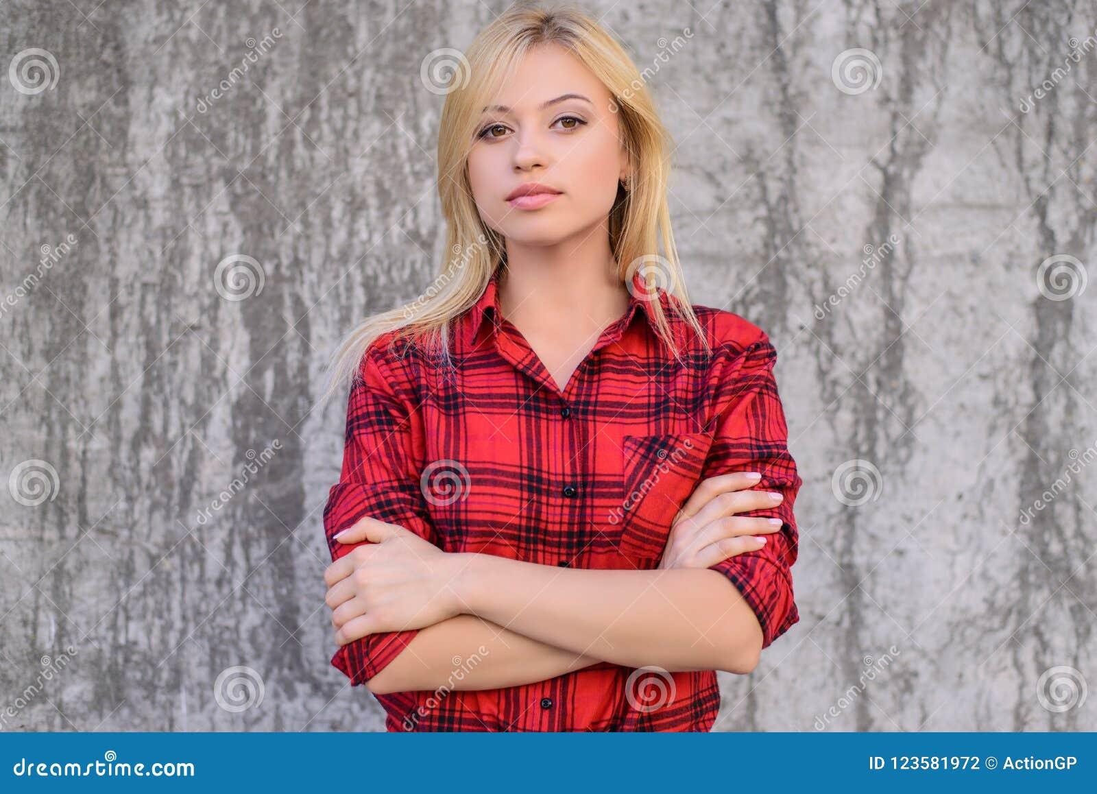 d49fb0de9f2 Confident Calm Woman With Crossed Arms